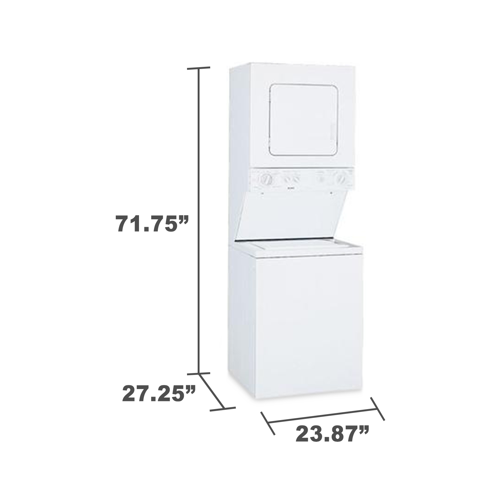 "Kenmore 88752 24"" Laundry Center w/ Electric Dryer - White"