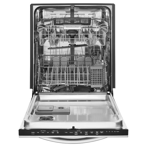 """Shop Kitchenaid Architect Ii 24 In Black Stainless Steel: KitchenAid KDTM354DSS 24"""" Built-In 6-Cycle Dishwasher W/ Ultra-Fine Filter-Stainless Steel"""