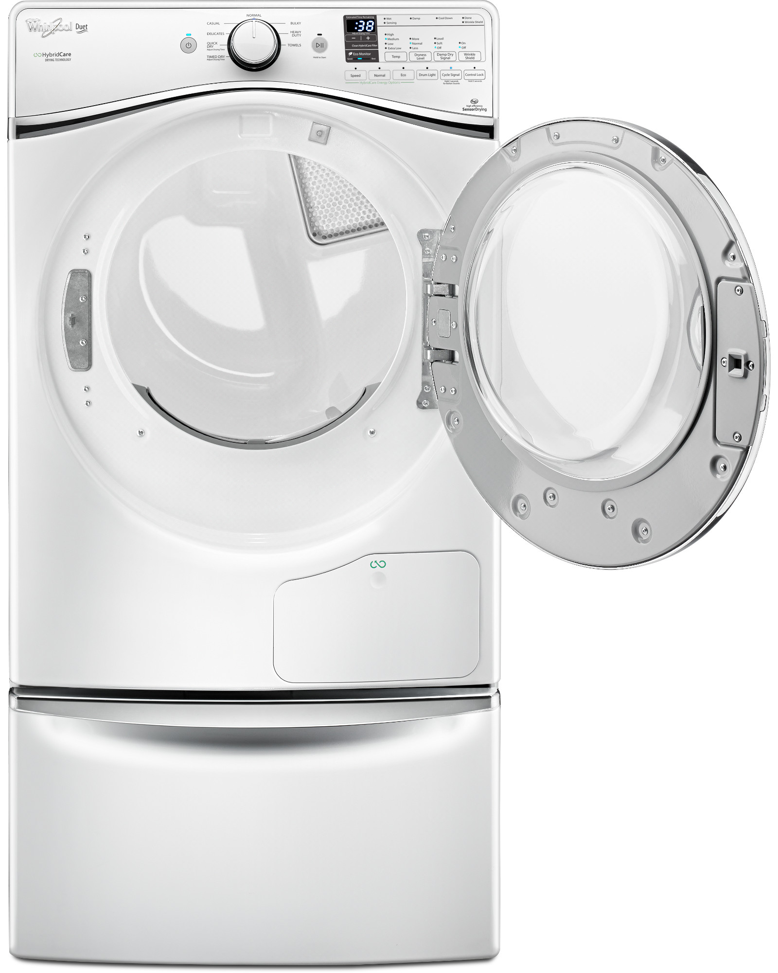 Whirlpool WED99HEDW 7.3 cu. ft. HybridCare™ Duet® Electric Dryer w/ Heat Pump Technology - White