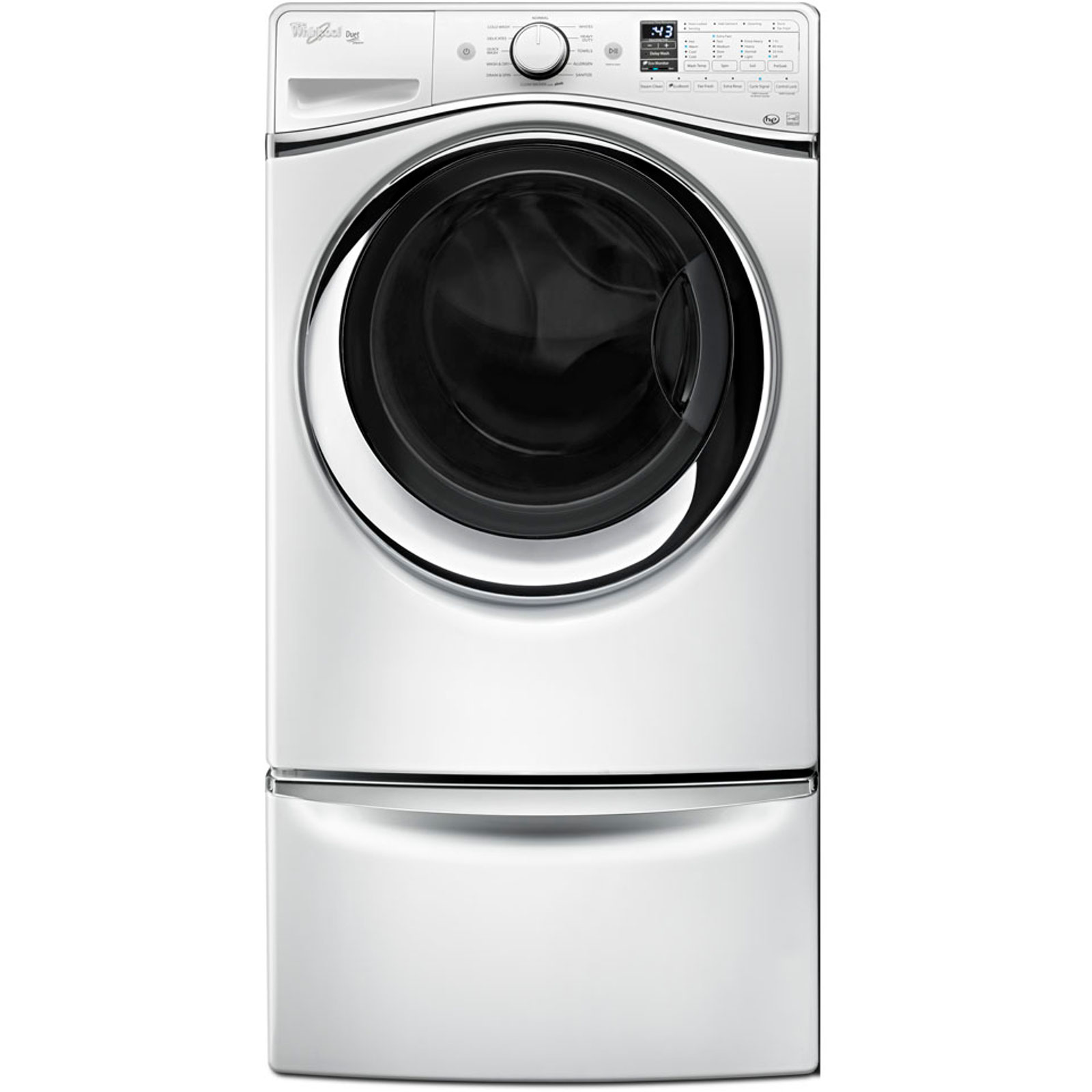 Whirlpool WFW95HEDW 4.5 cu. ft. Duet® Front-Load Washer w/ Wash and Dry Cycle - White