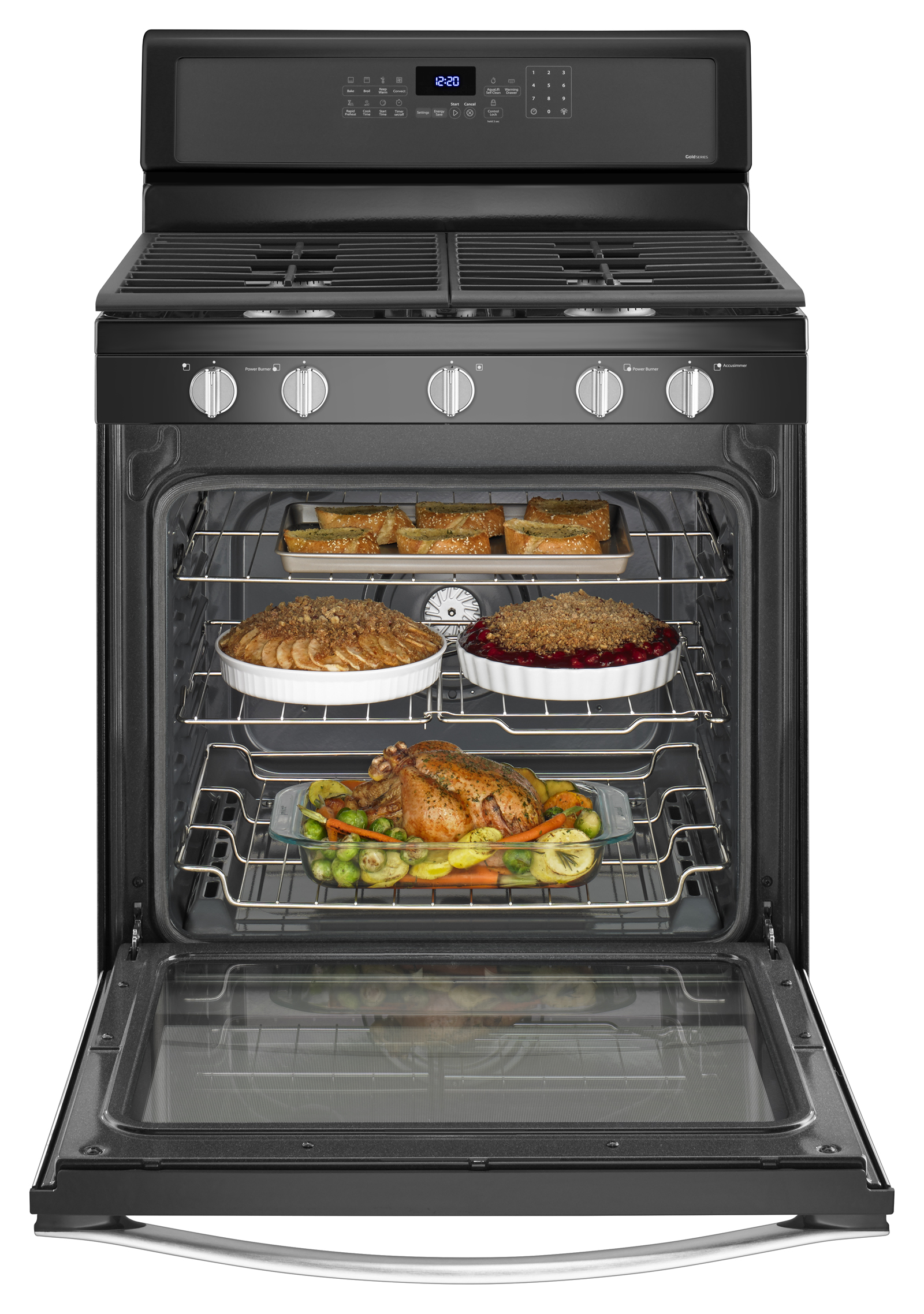 Whirlpool WFG715H0EE 5.8 cu. ft. Freestanding Gas Range - Black Ice