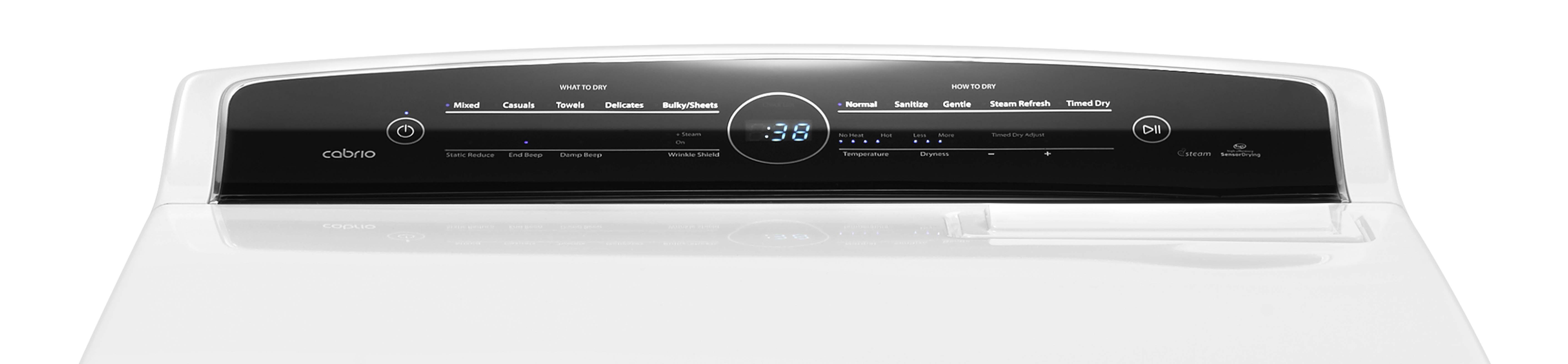 Whirlpool WGD7300DW 7.0 cu. ft. Cabrio® High-Efficiency Gas Dryer - White