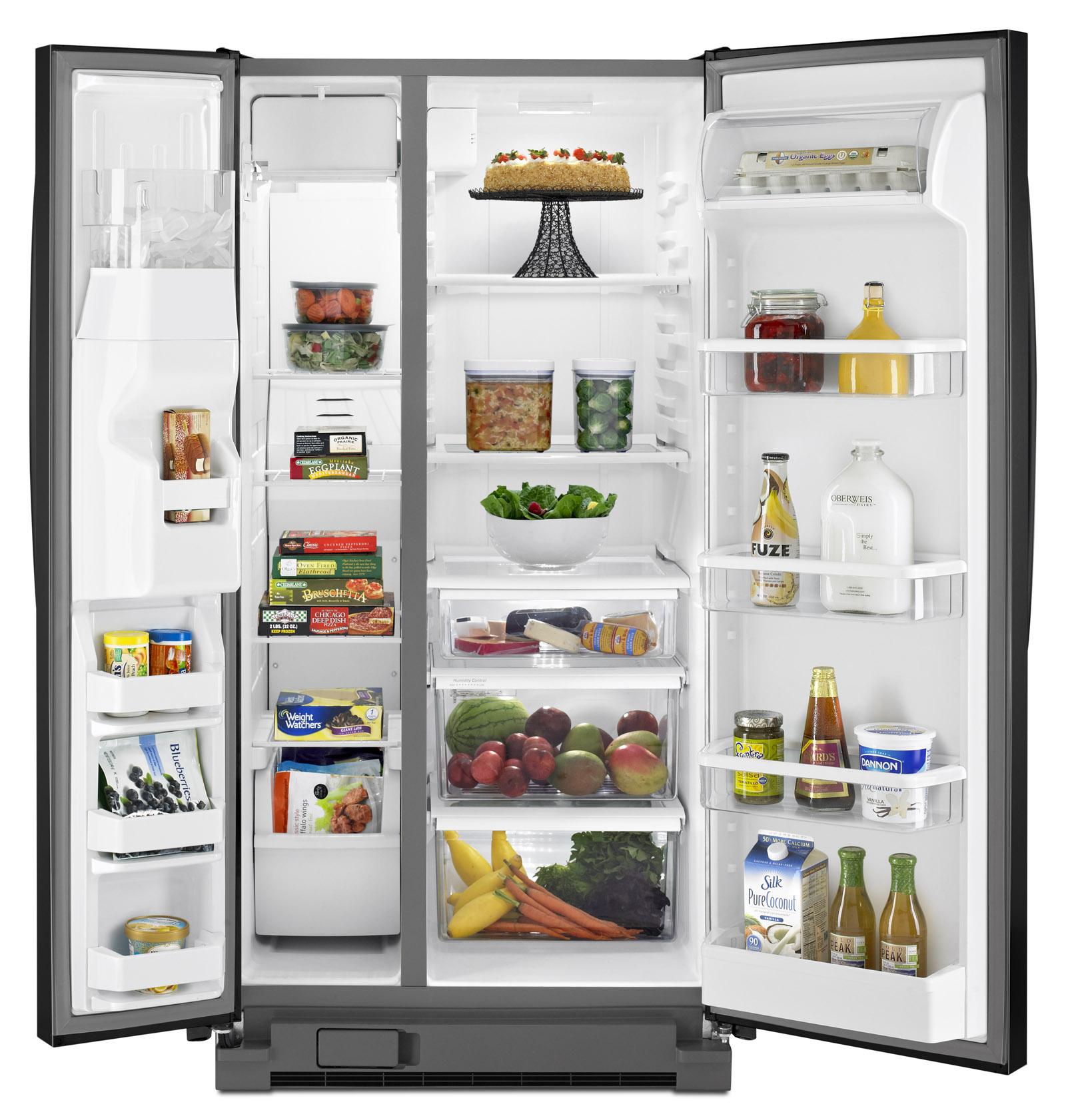 Whirlpool WRS342FIAB 21.3 cu. ft.- Side-by-Side Refrigerator - Black