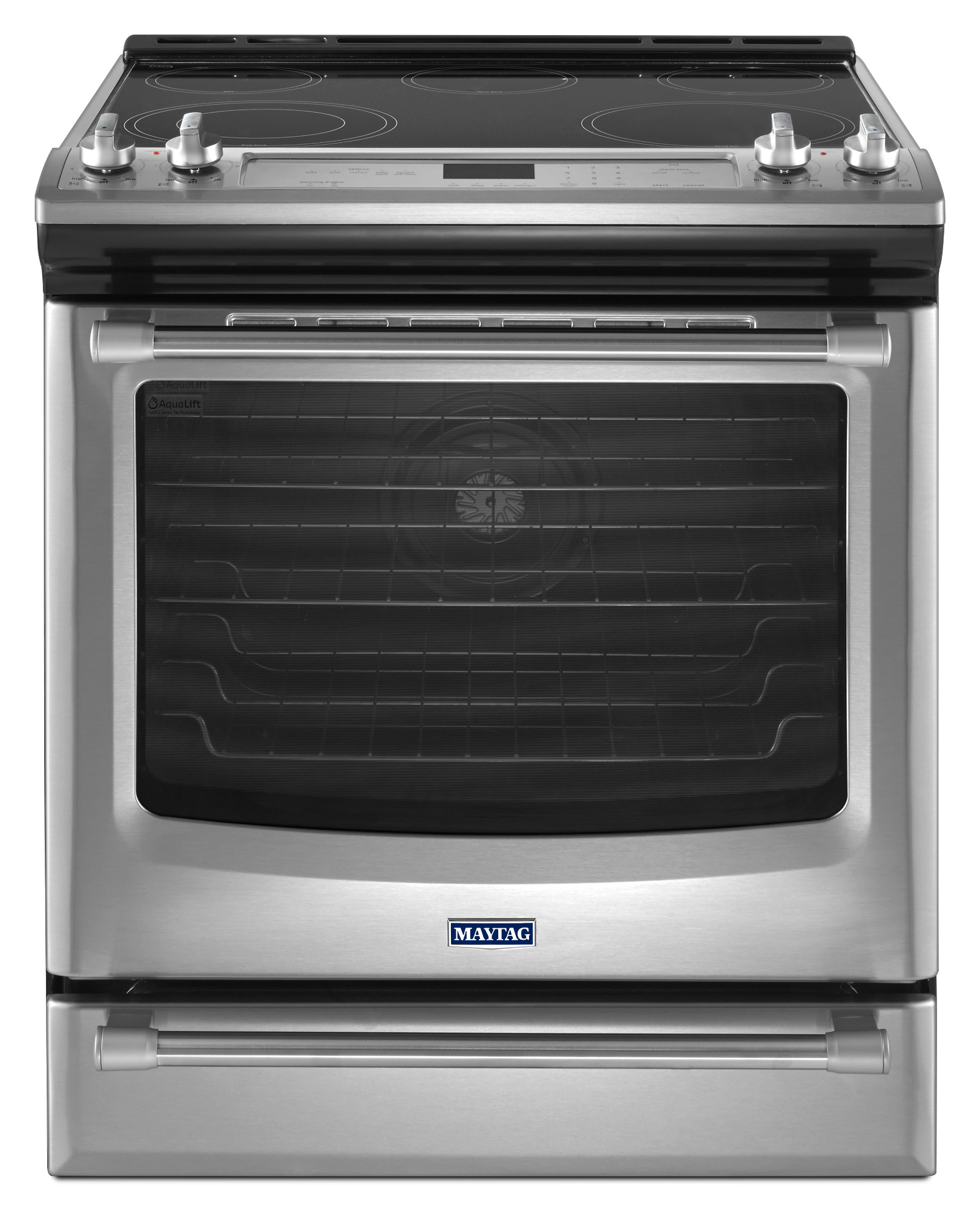 Maytag MES8880DS 6.4 cu. ft. Slide-in Electric Range - Stainless Steel