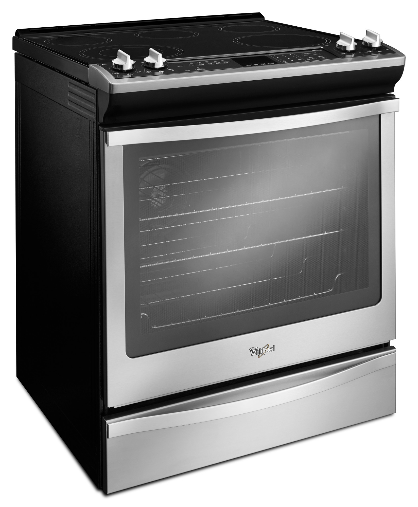 Whirlpool 6.2 cu. ft. Slide-In Electric Range - Stainless Steel