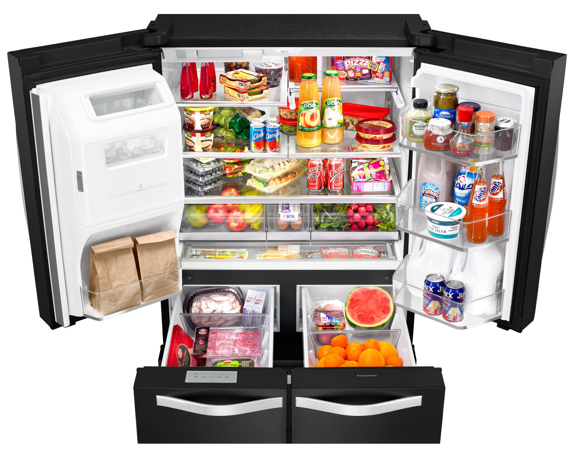 Whirlpool WRV996FDEE 26 cu. ft. French Door Bottom Freezer Refrigerator - Black