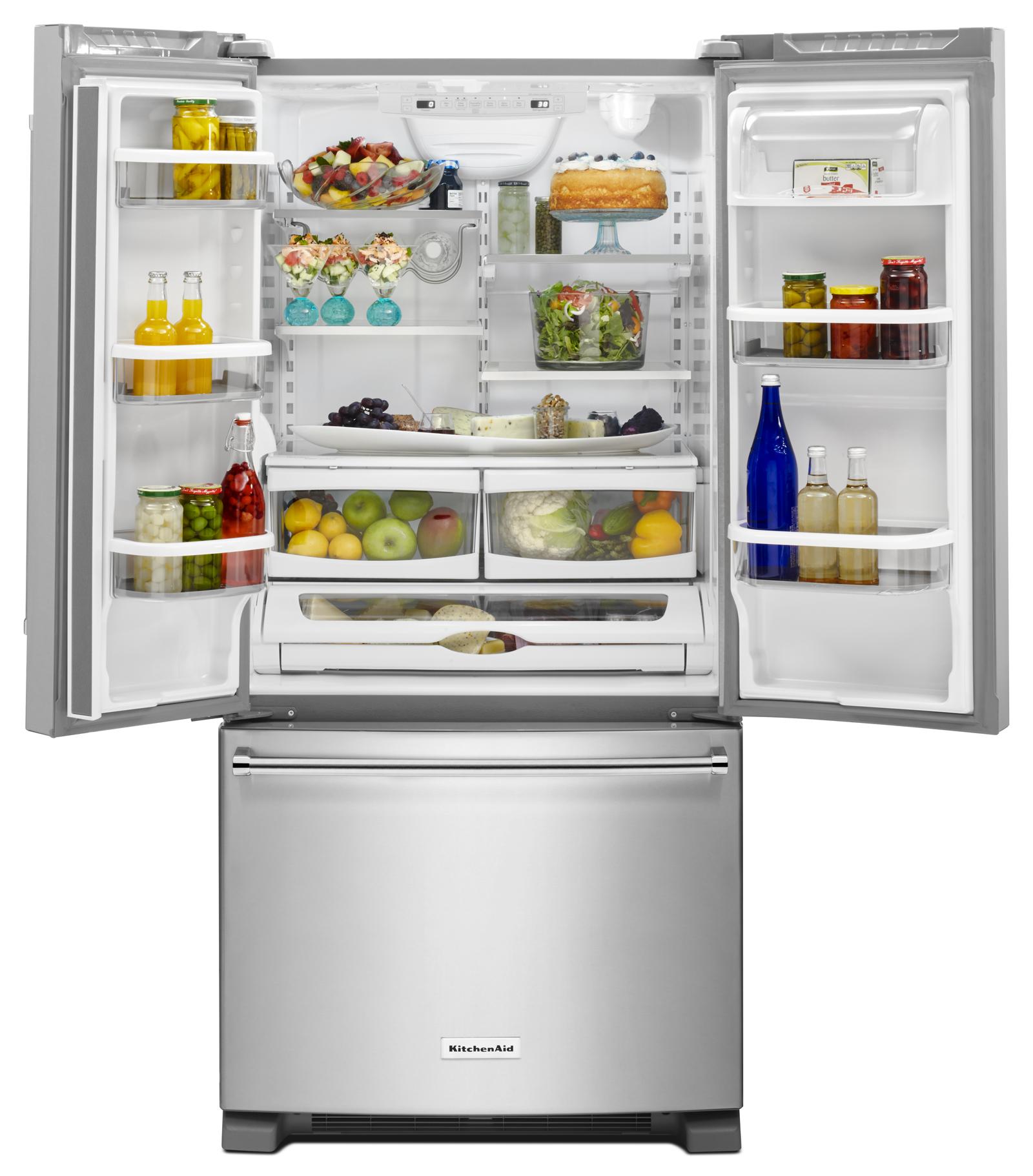 KitchenAid KRFF302ESS 22 cu. ft. French Door Refrigerator - Stainless Steel