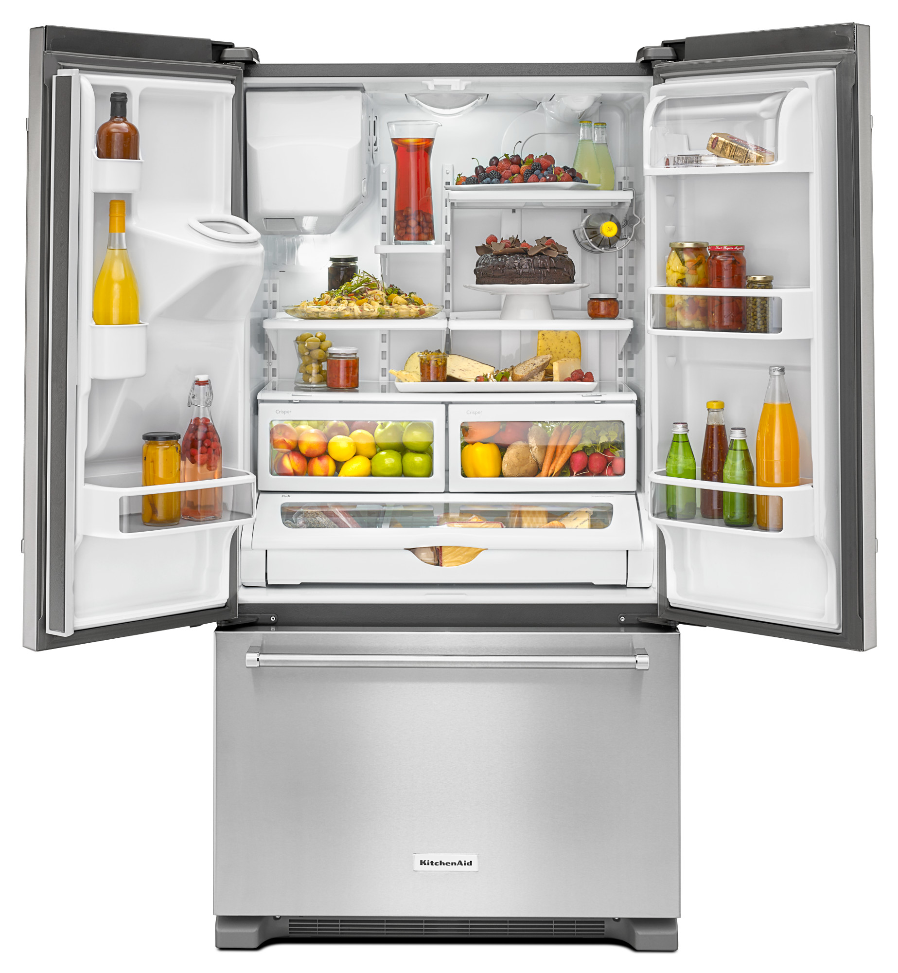 KitchenAid KRFC400ESS 20 cu. ft. Counter-Depth French Door Refrigerator - Stainless Steel