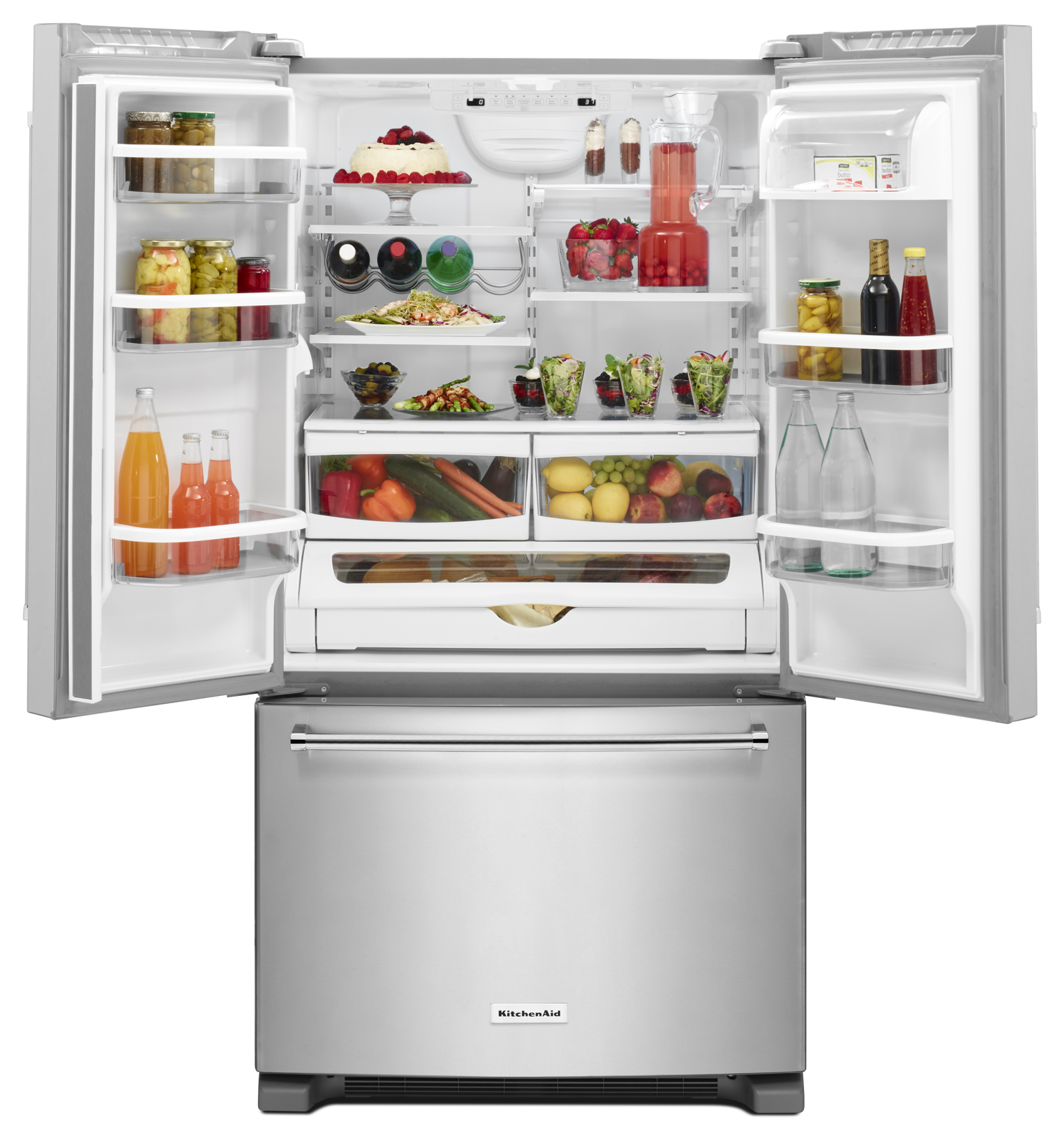 KitchenAid KRFF305ESS 25 cu. ft. French Door Refrigerator - Stainless Steel