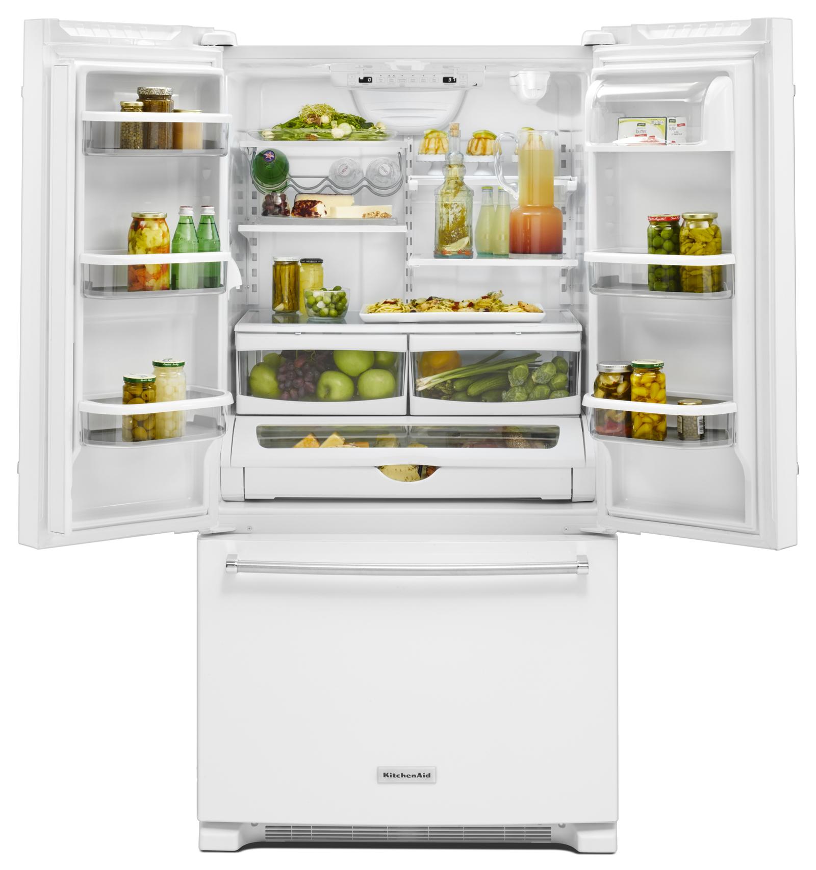 KitchenAid KRFF305EWH 25 cu. ft. French Door Refrigerator - White