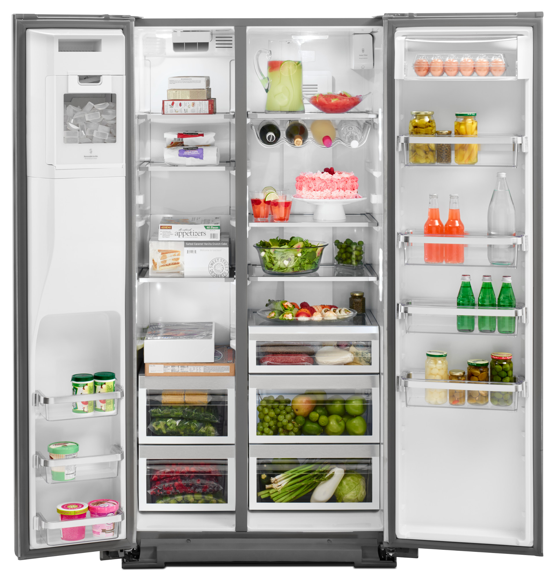 KitchenAid KRSC503ESS 22.7 cu. ft. Counter-Depth Side-by-Side Refrigerator - Stainless Steel