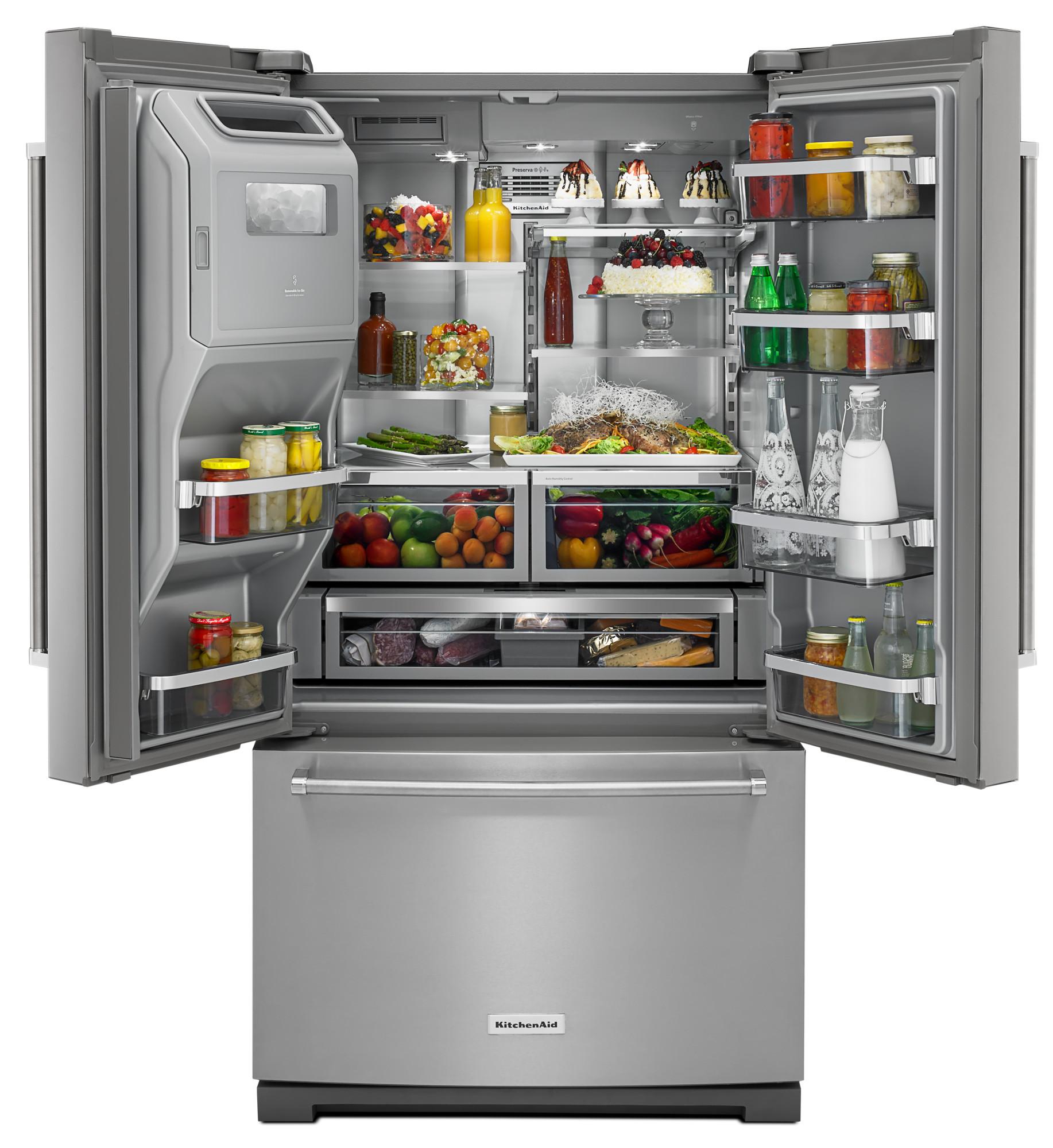KitchenAid KRFF707ESS 26.8 cu. ft. French Door Refrigerator - Stainless Steel