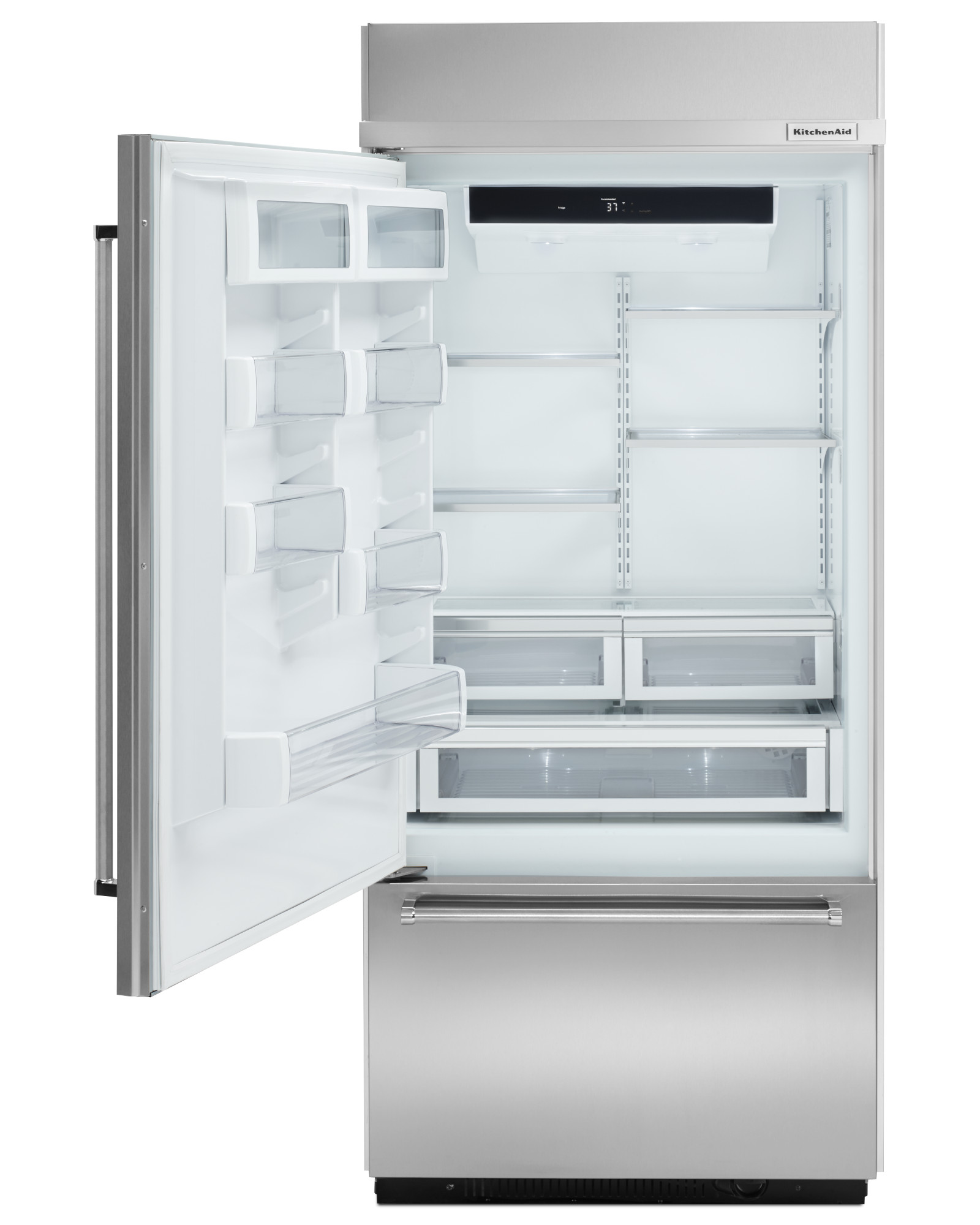 KitchenAid KBBL206ESS 20.9 cu. ft. Built-In Bottom Freezer Refrigerator - Stainless Steel