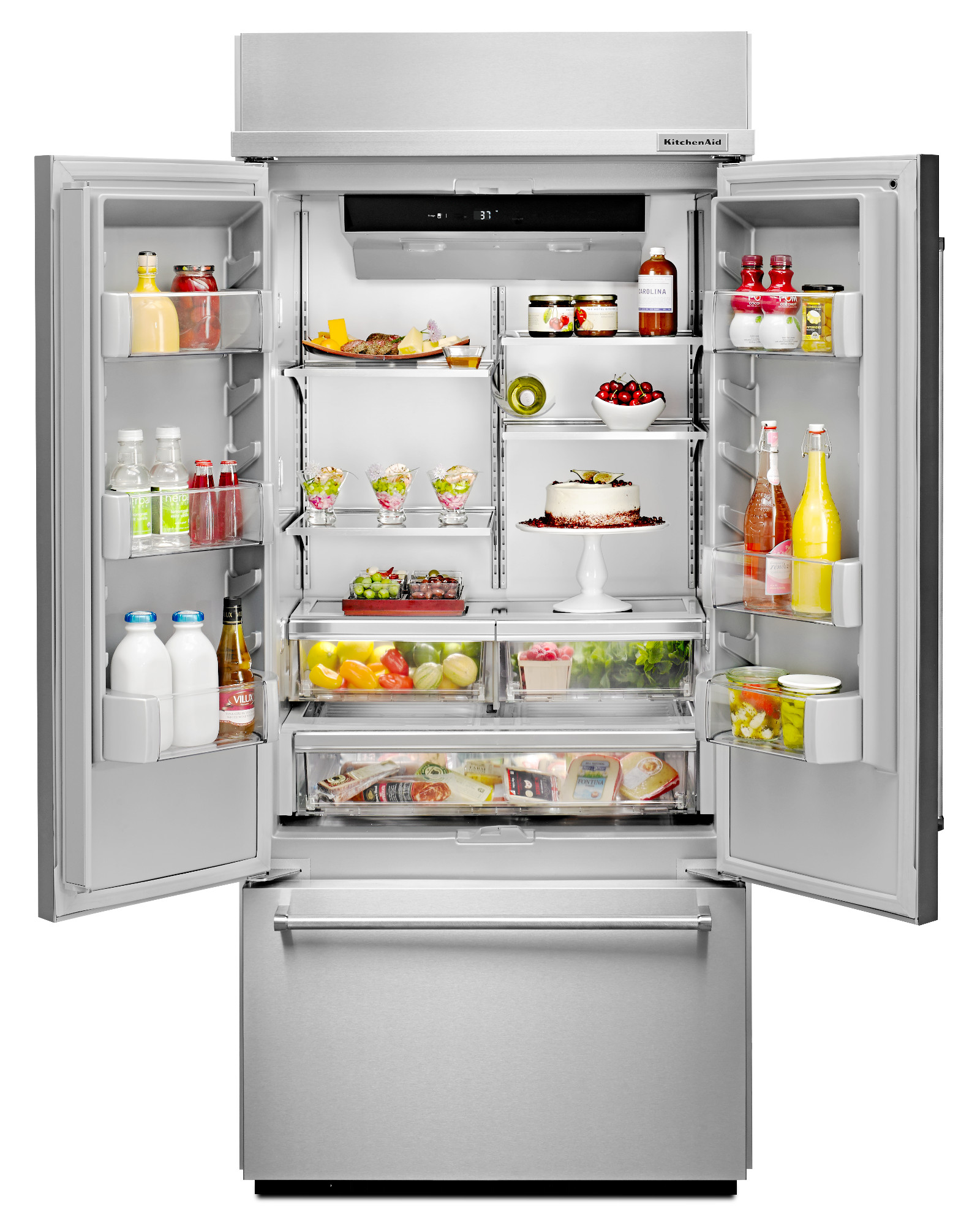 KitchenAid KBFN506ESS 20.8 cu. ft. Built-In French Door Refrigerator - Stainless Steel