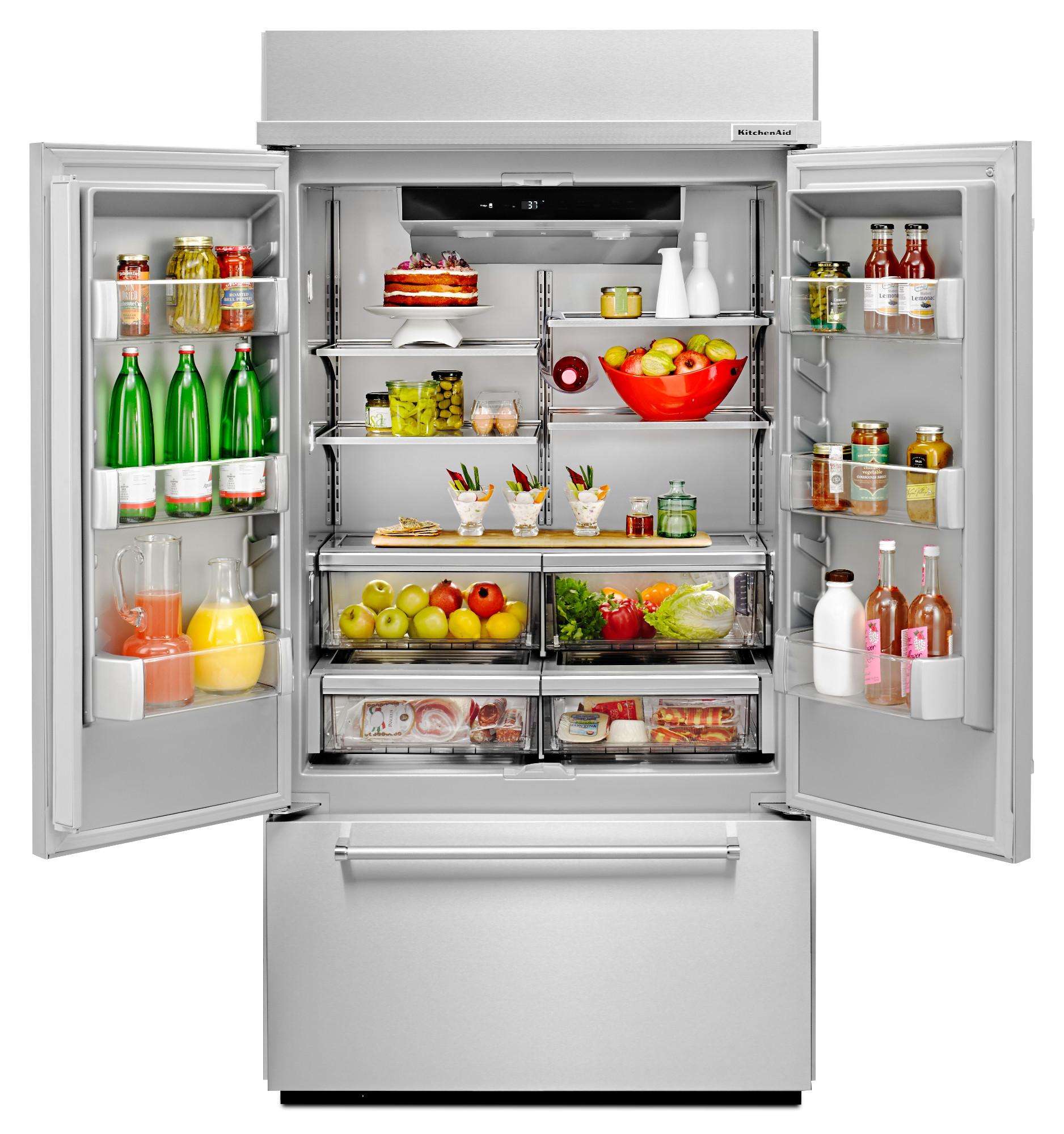KitchenAid KBFN502ESS 24.2 cu. ft. Built-In French Door Refrigerator - Stainless Steel