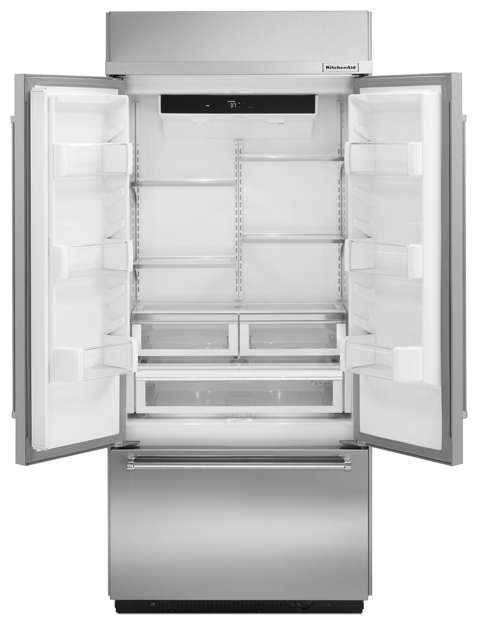KitchenAid KBFN406ESS 20.8 cu. ft. Built-In French Door Refrigerator - Stainless Steel
