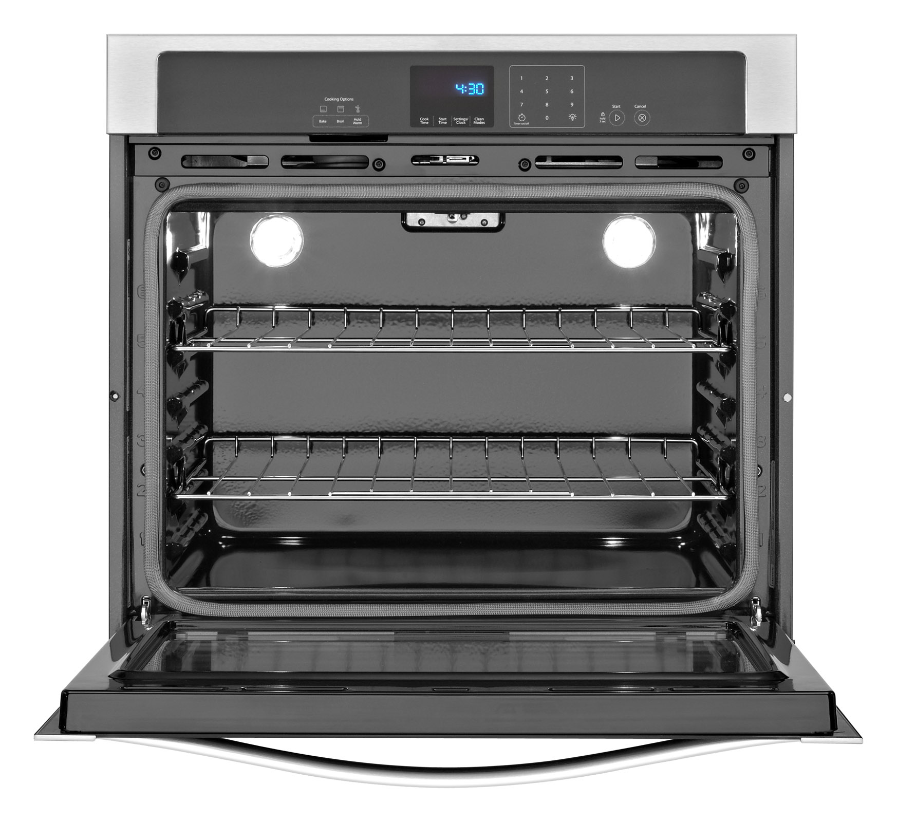 "Whirlpool WOS51EC0AB 30"" Electric Wall Oven w/ SteamClean - Black"