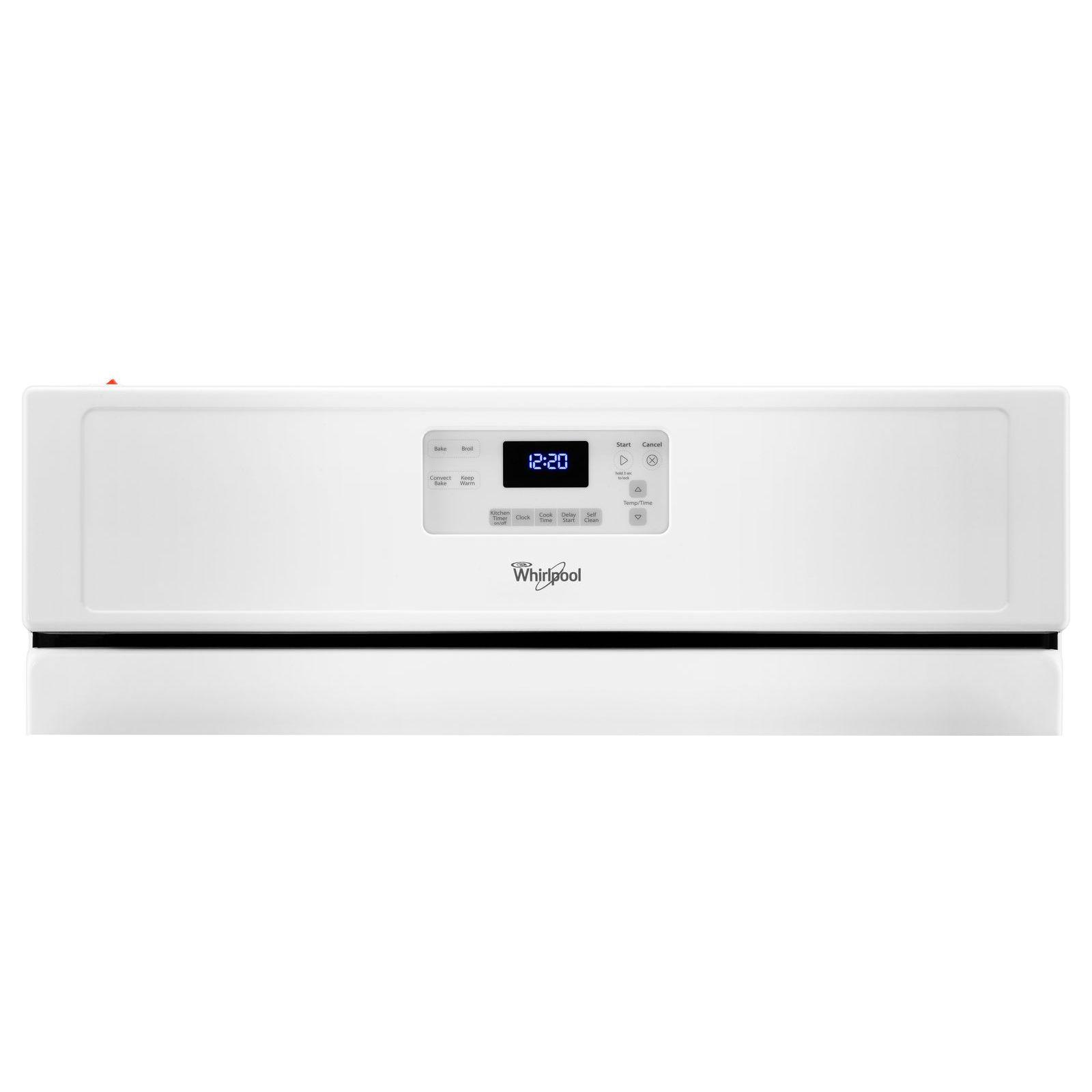Whirlpool WFG530S0EW 5.0 cu. ft. Freestanding Gas Range - White