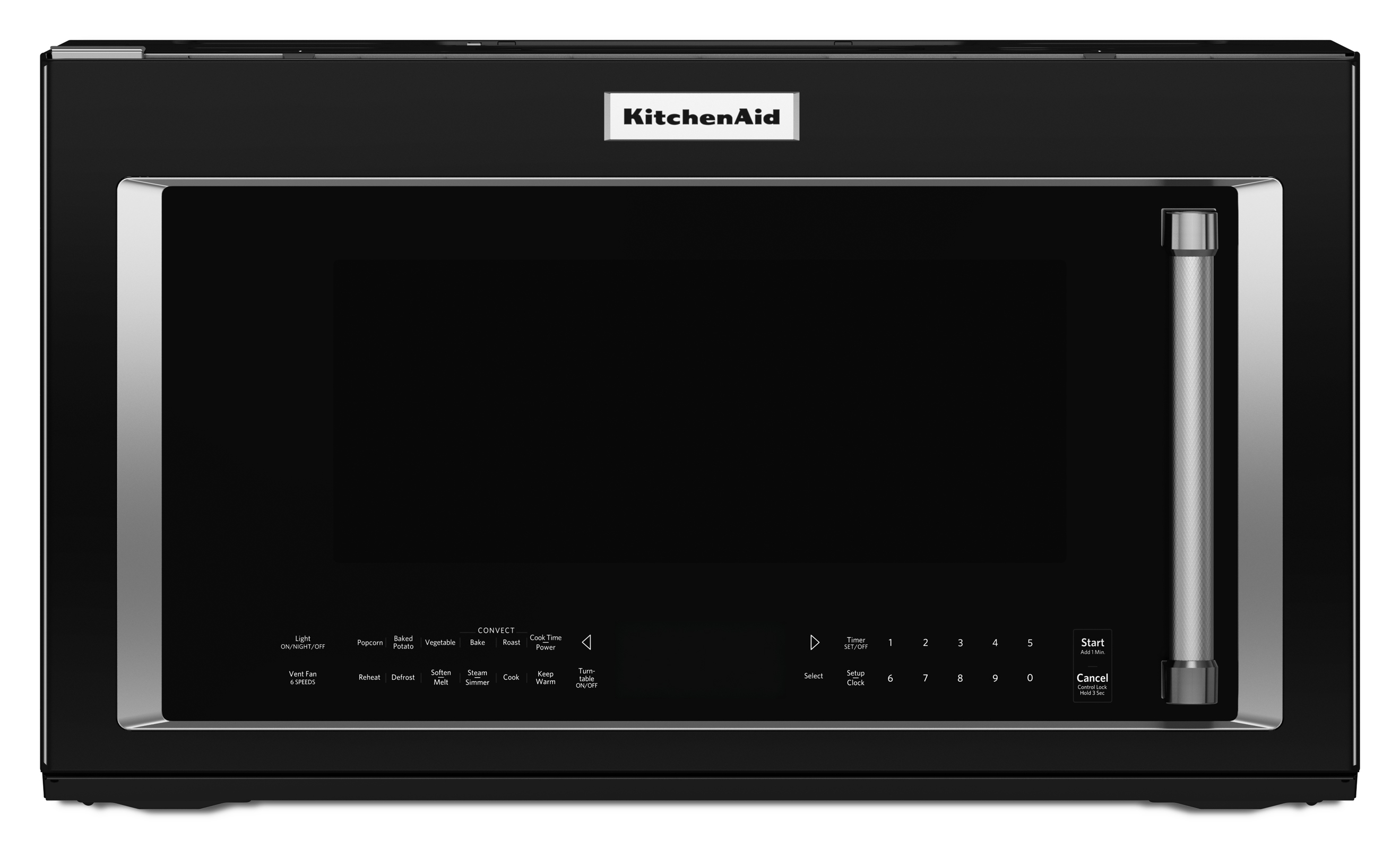 KitchenAid KMHC319EBL 1.9 cu. ft. 1000W Convection Microwave Oven - Black