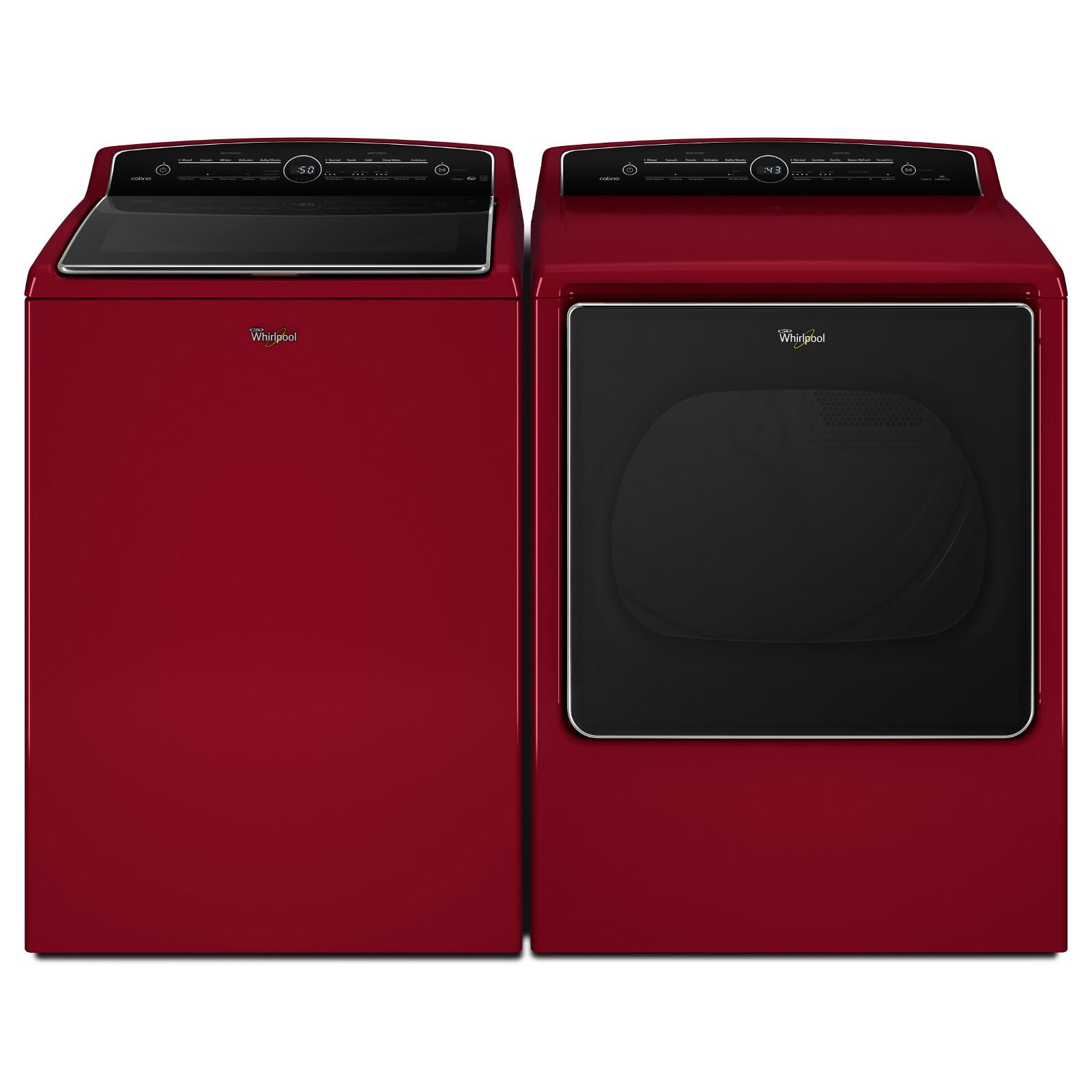 Whirlpool WGD8500DR 8.8 cu. ft. Cabrio® High-Efficiency Gas Steam Dryer - Cranberry Red