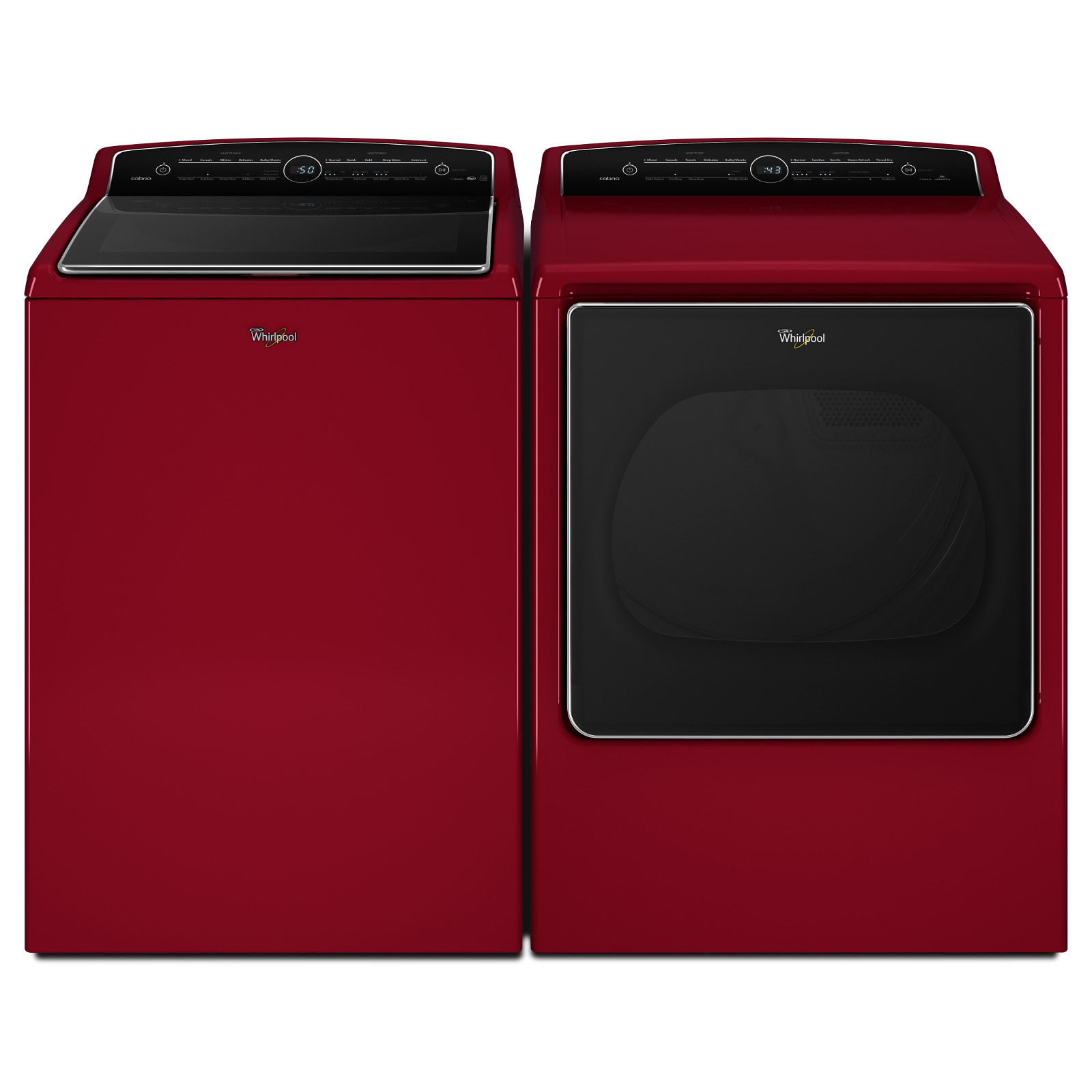 Whirlpool WTW8500DR 5.3 cu. ft. Cabrio® Top Load Washer - Cranberry Red