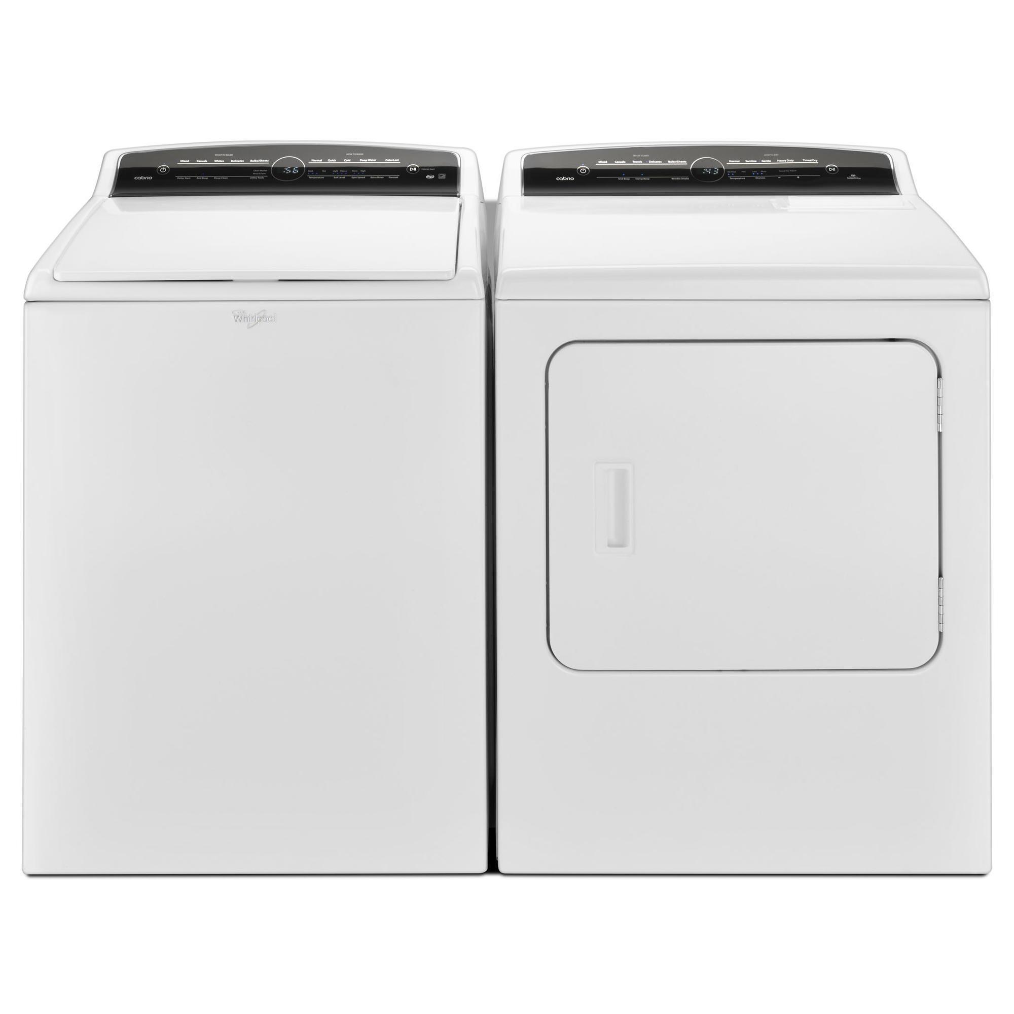 4.8 cu. ft. Cabrio® Top Load Washer & 7.0 cu. ft. Cabrio® High-Efficiency Dryer