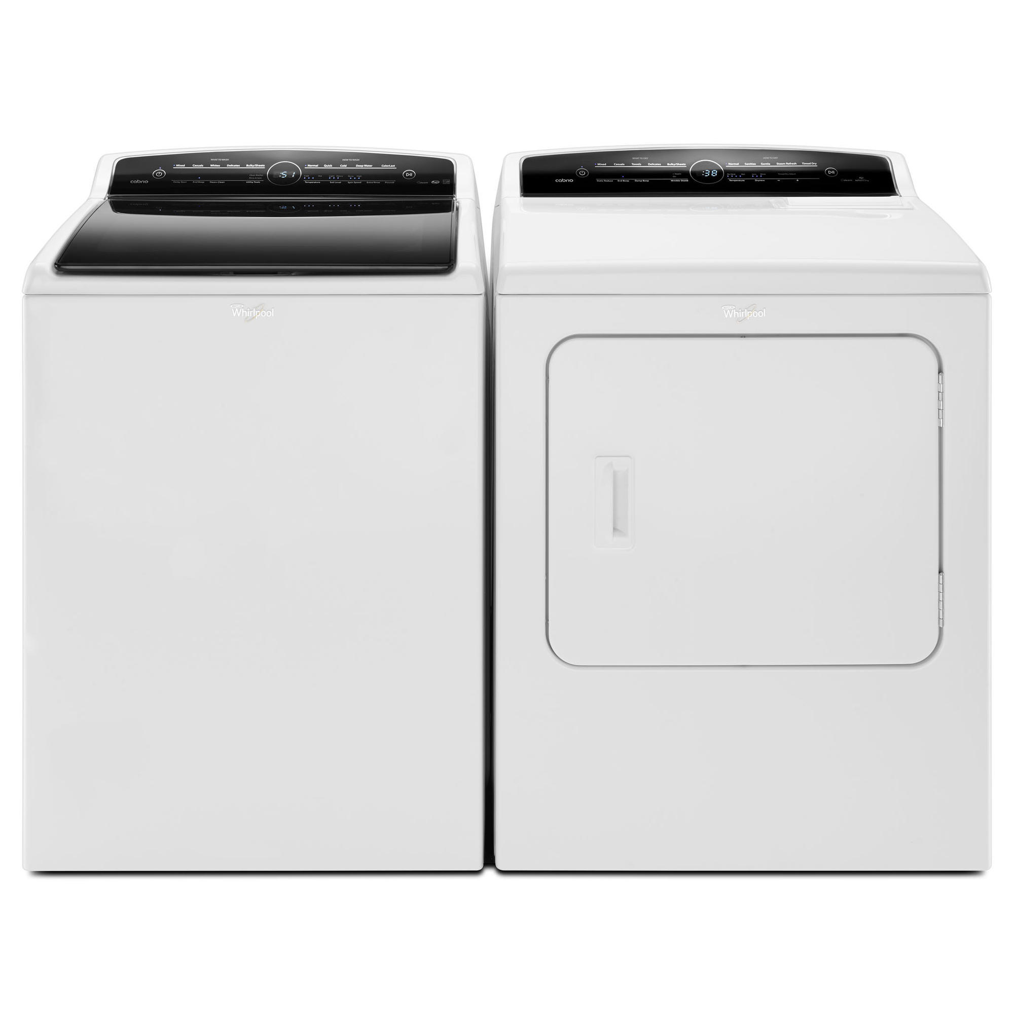 4.8 cu. ft. Cabrio® Top Load Washer & 7.0 cu. ft. High-Efficiency Dryer - White