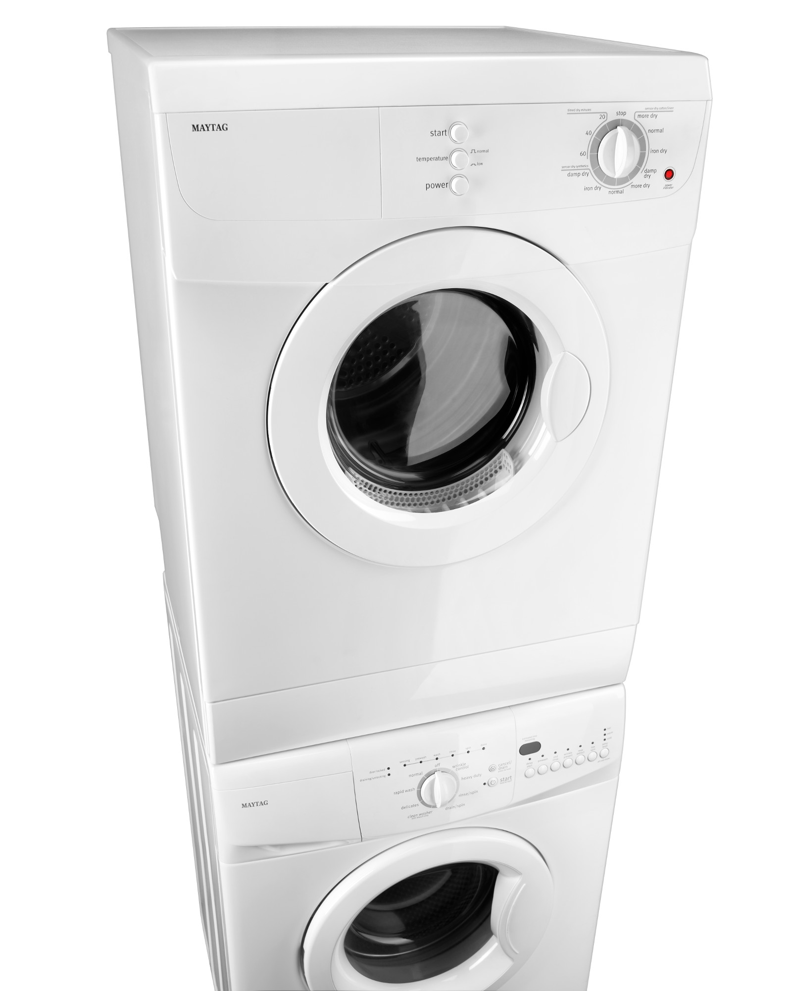 Maytag 3.8 cu. ft. Compact Electric Dryer - White