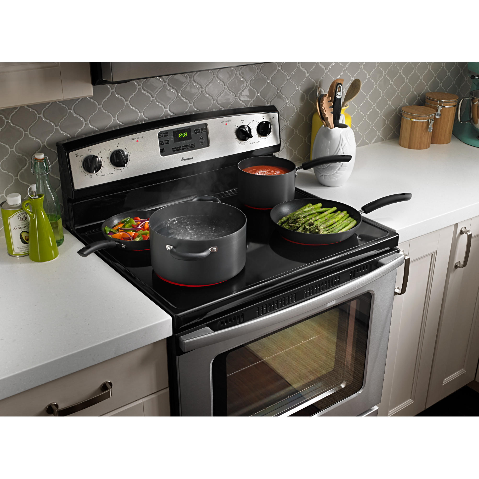 Amana AER5630BAS 4.8 cu. ft. Self-Cleaning Electric Range - Stainless Steel