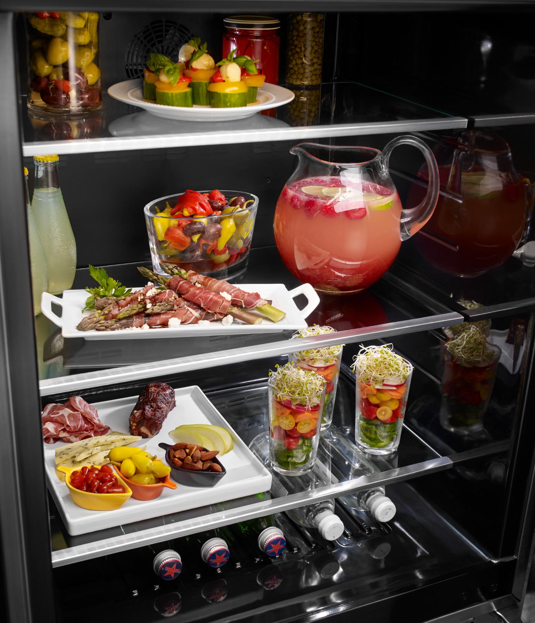 KitchenAid KURL304ESS 5.1 cu. ft  Left Swing Undercounter Refrigerator with Glass Door - Stainless Steel