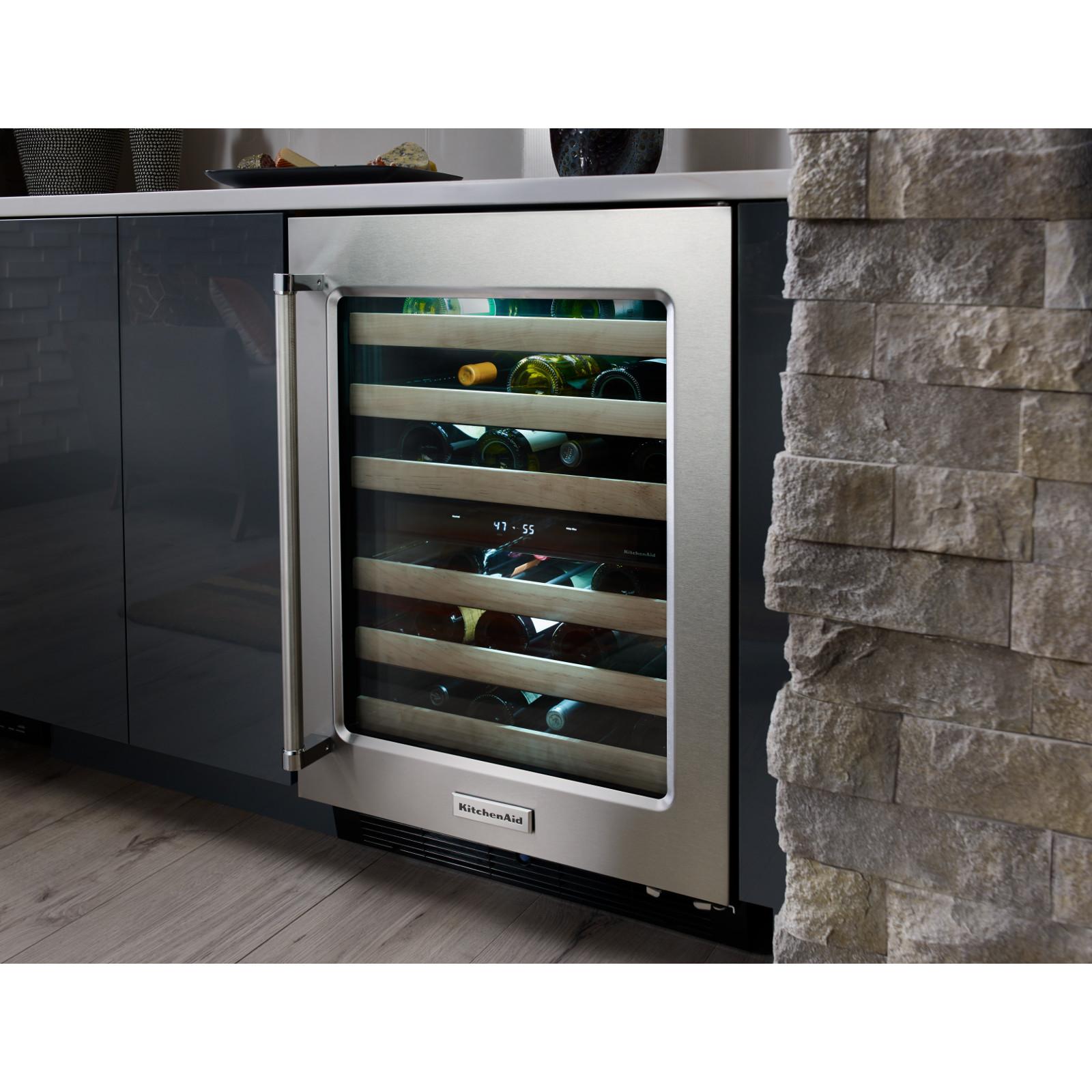 KitchenAid KUWL204ESB 4.7 Wine Cellar - Stainless Steel