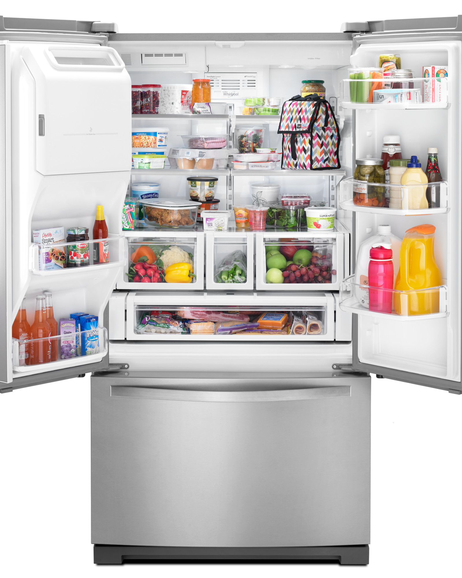 Whirlpool WRF757SDEM 27 cu. ft. French Door Bottom-Freezer Refrigerator - Stainless Steel
