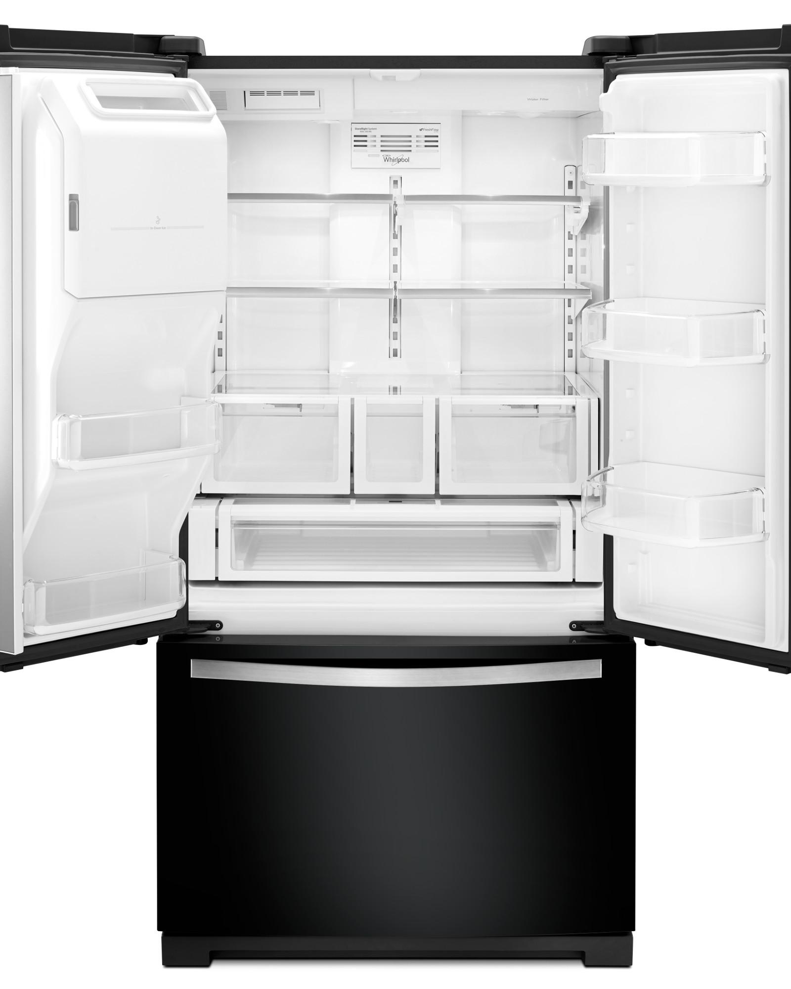 Whirlpool WRF757SDEE 27 cu. ft. French Door Bottom-Freezer Refrigerator - Black