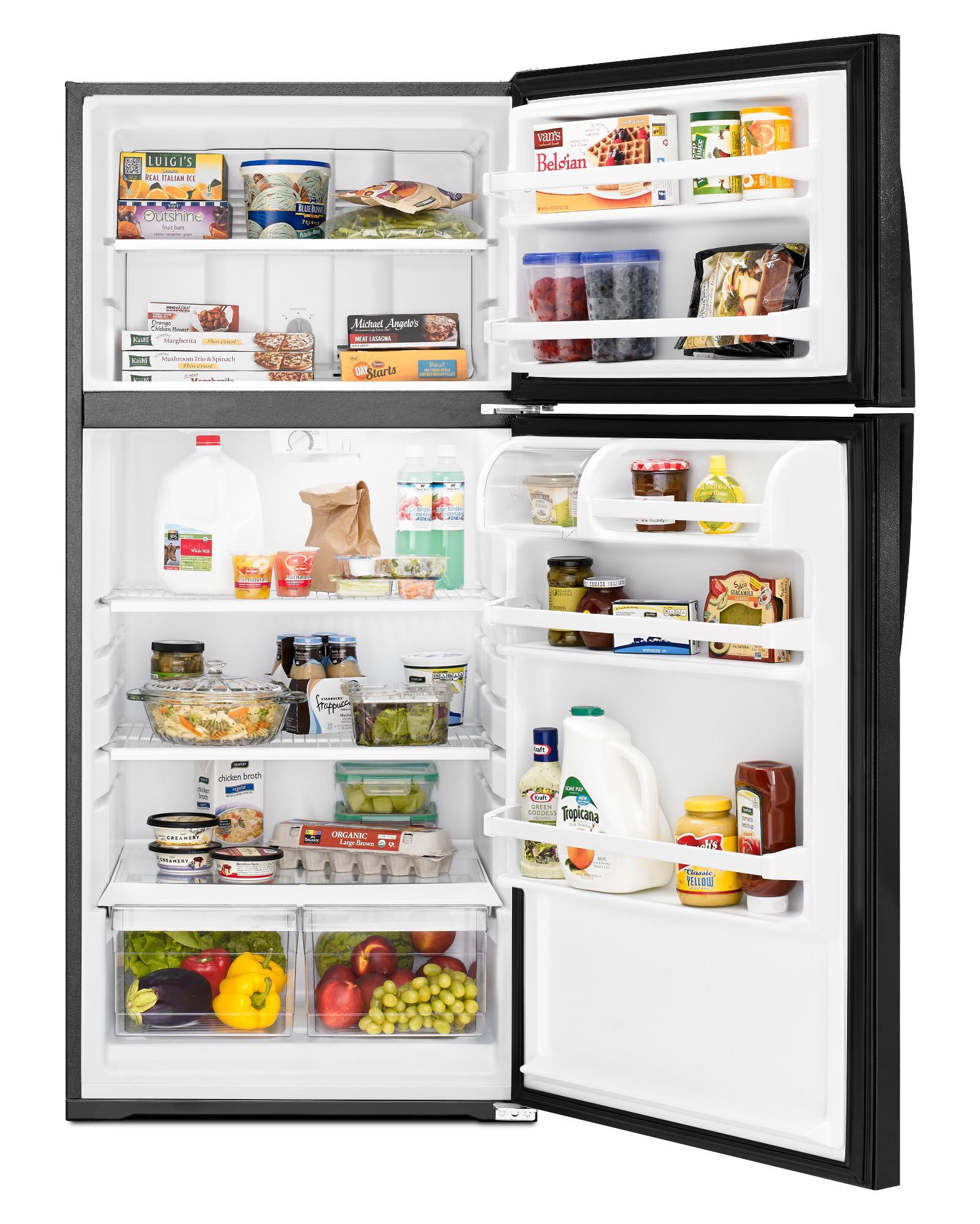 Whirlpool WRT134TFDB 14 cu. ft. Top Freezer Refrigerator - Black