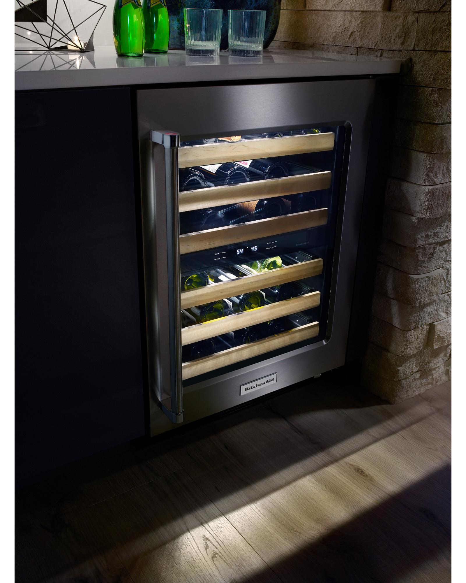 KitchenAid KUWR204ESB 4.7 Wine Cellar - Stainless Steel