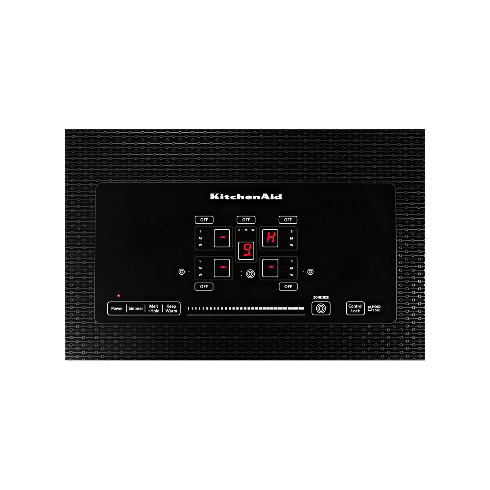 "KitchenAid KECC667BSS 36"" 5-Element Electric Cooktop with Even-Heat™ Technology  - Stainless Steel"