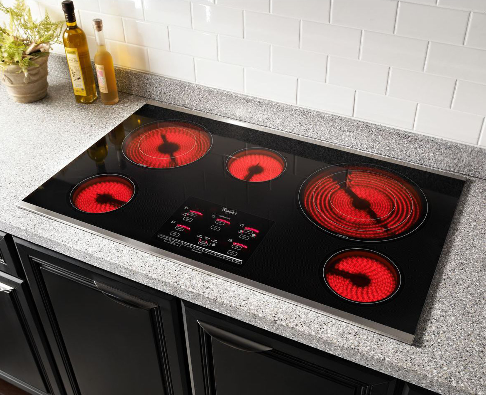 "Whirlpool Gold G9CE3675XB 36"" Electric Cooktop"