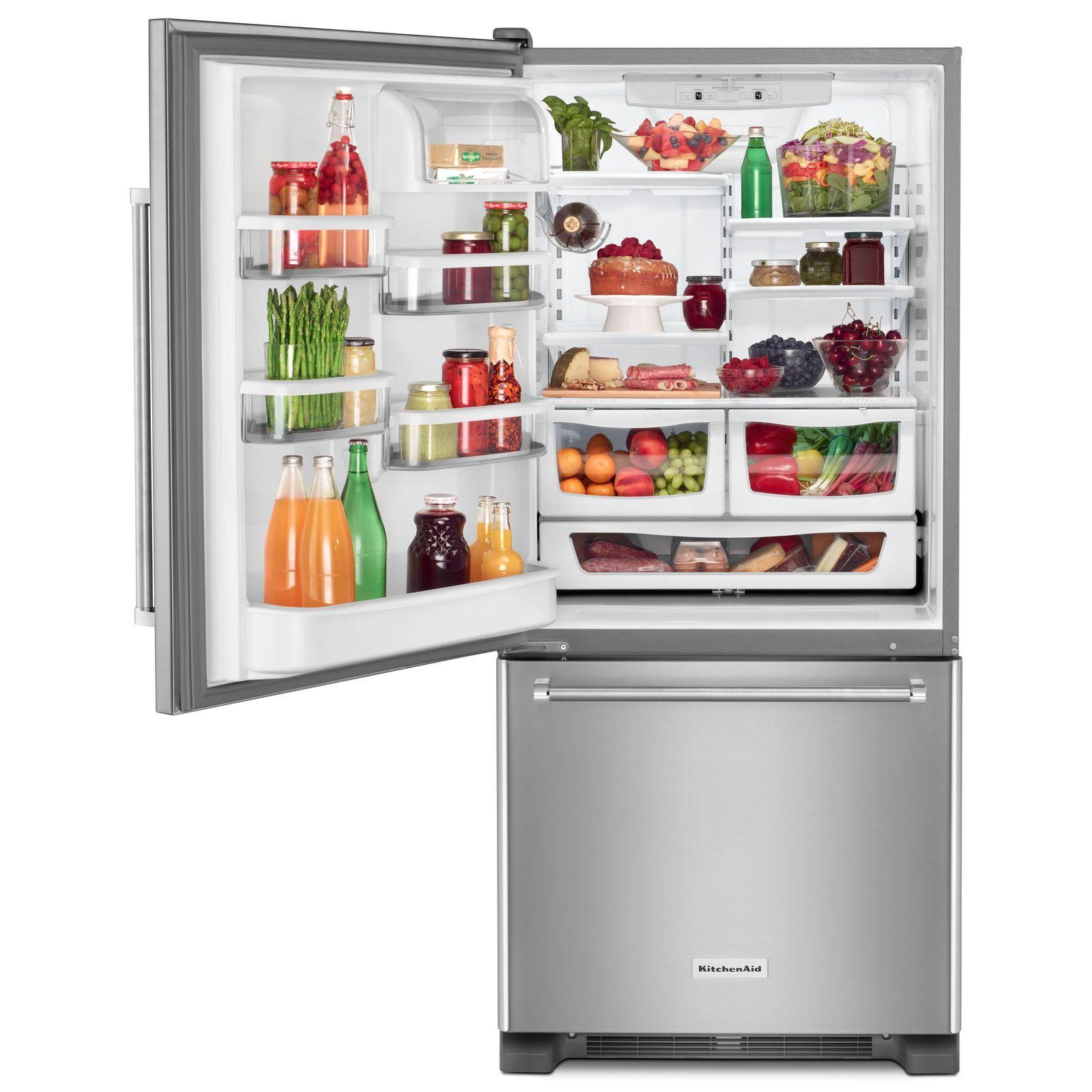 KitchenAid KRBL109ESS 19 cu. ft. Bottom Mount Refrigerator - Stainless Steel