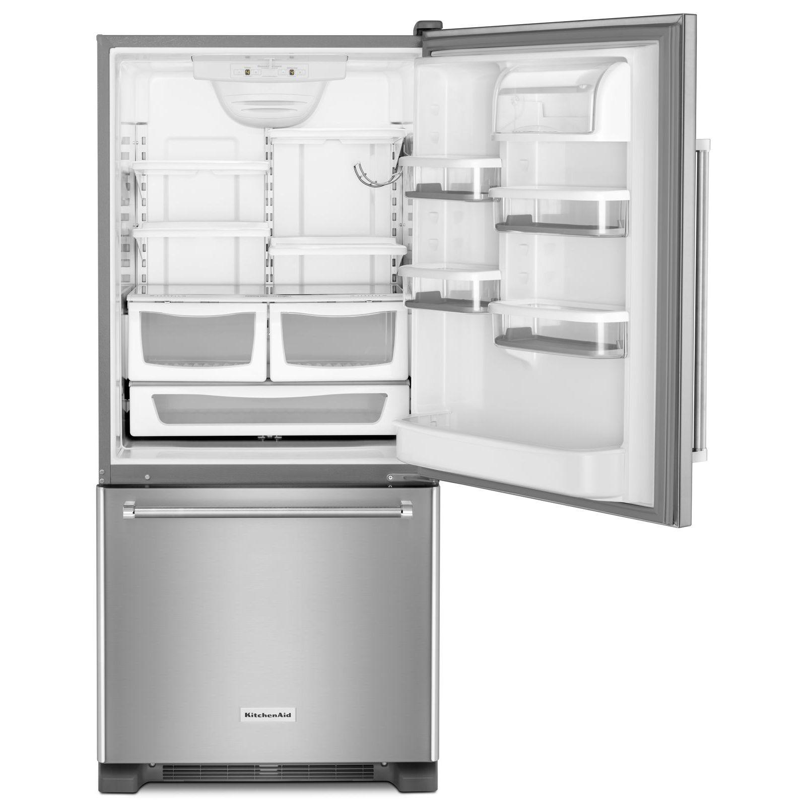 KitchenAid KRBR109ESS 19 cu. ft. Bottom Mount Refrigerator - Stainless Steel