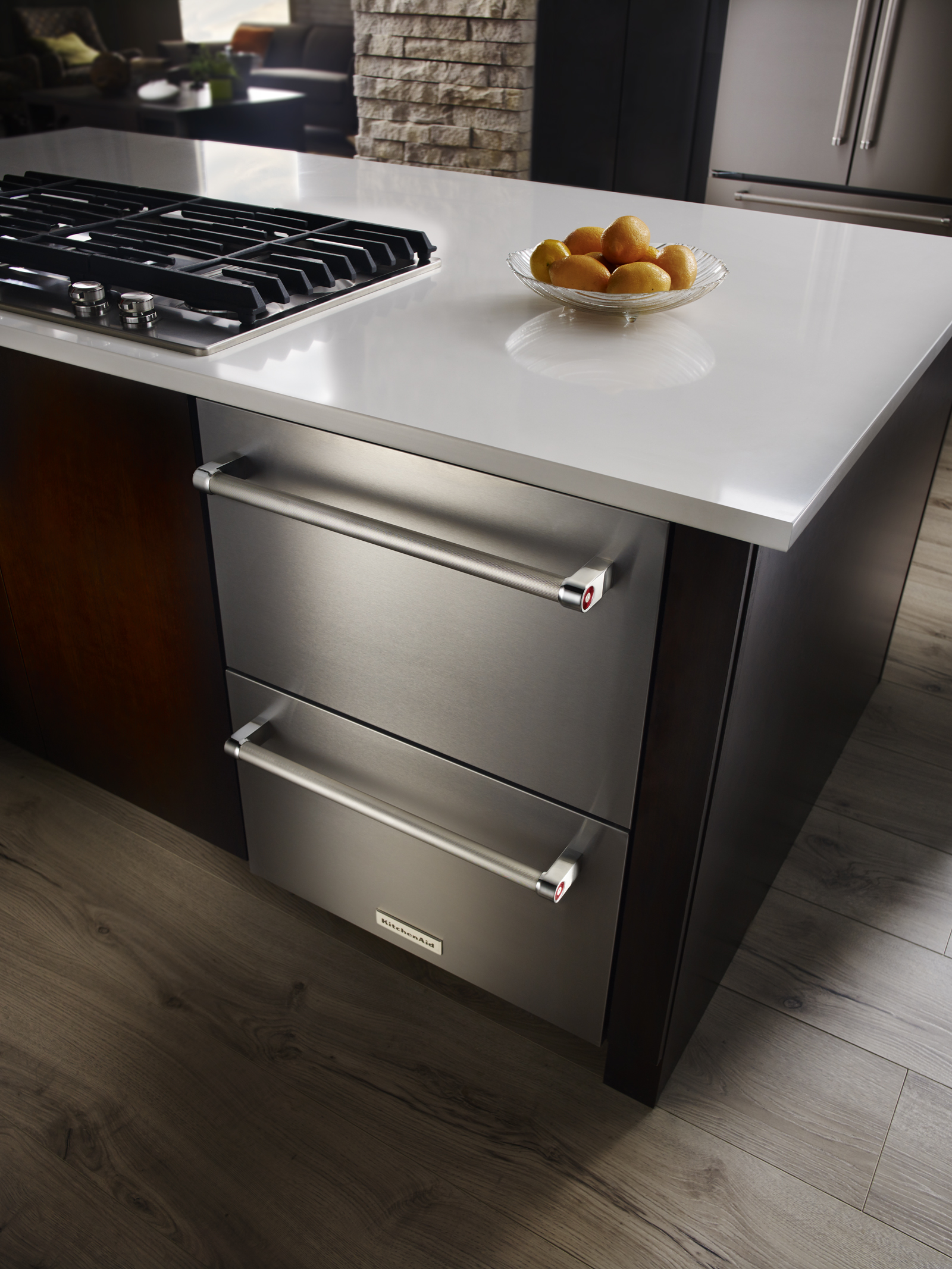 KitchenAid KUDR204ESB 4.7 cu. ft. Double Refrigerator Drawer - Stainless Steel
