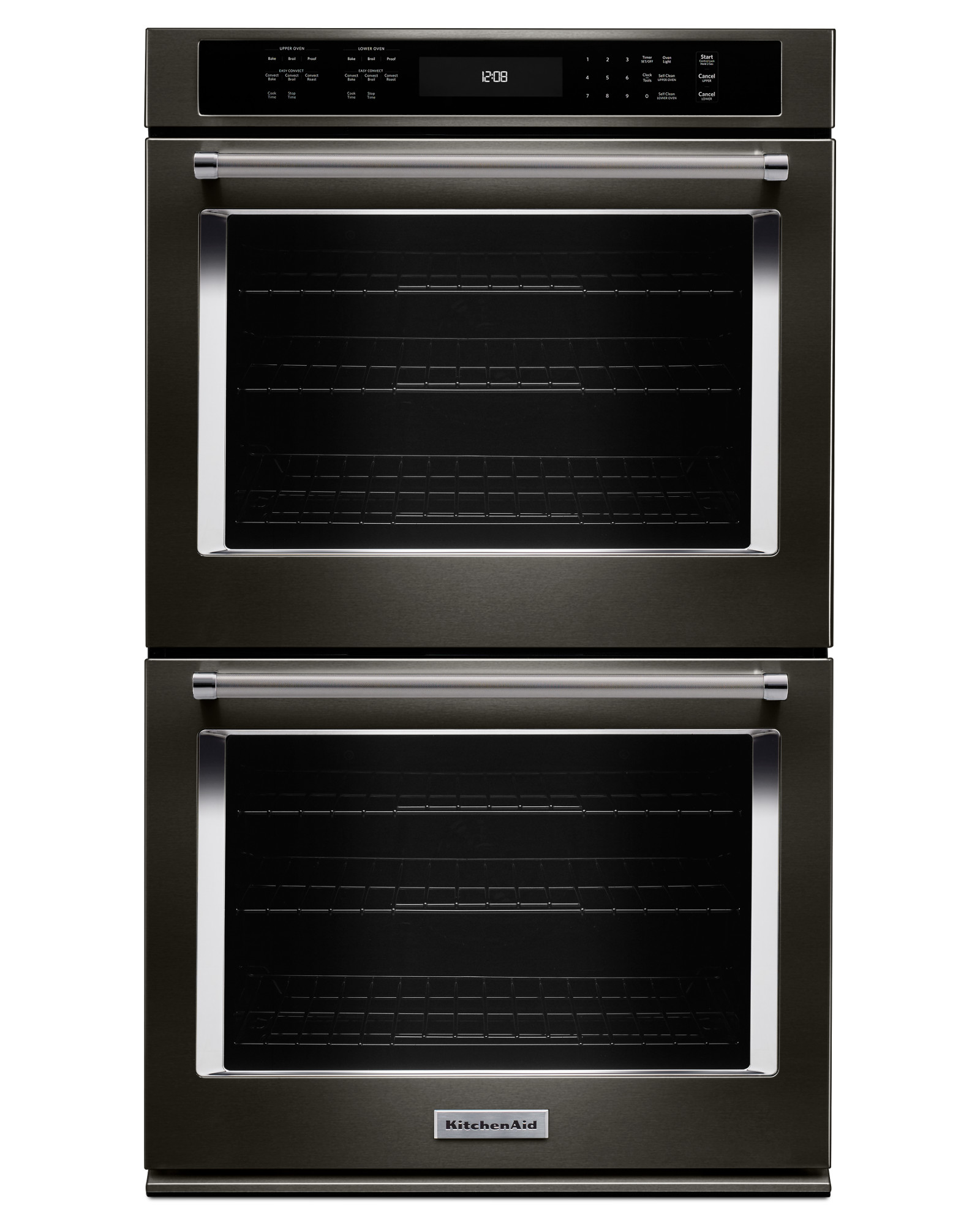 KitchenAid KODE500EBS 30 Double Wall Oven w/ Even-Heat™ True Convection -  Black Stainless Steel