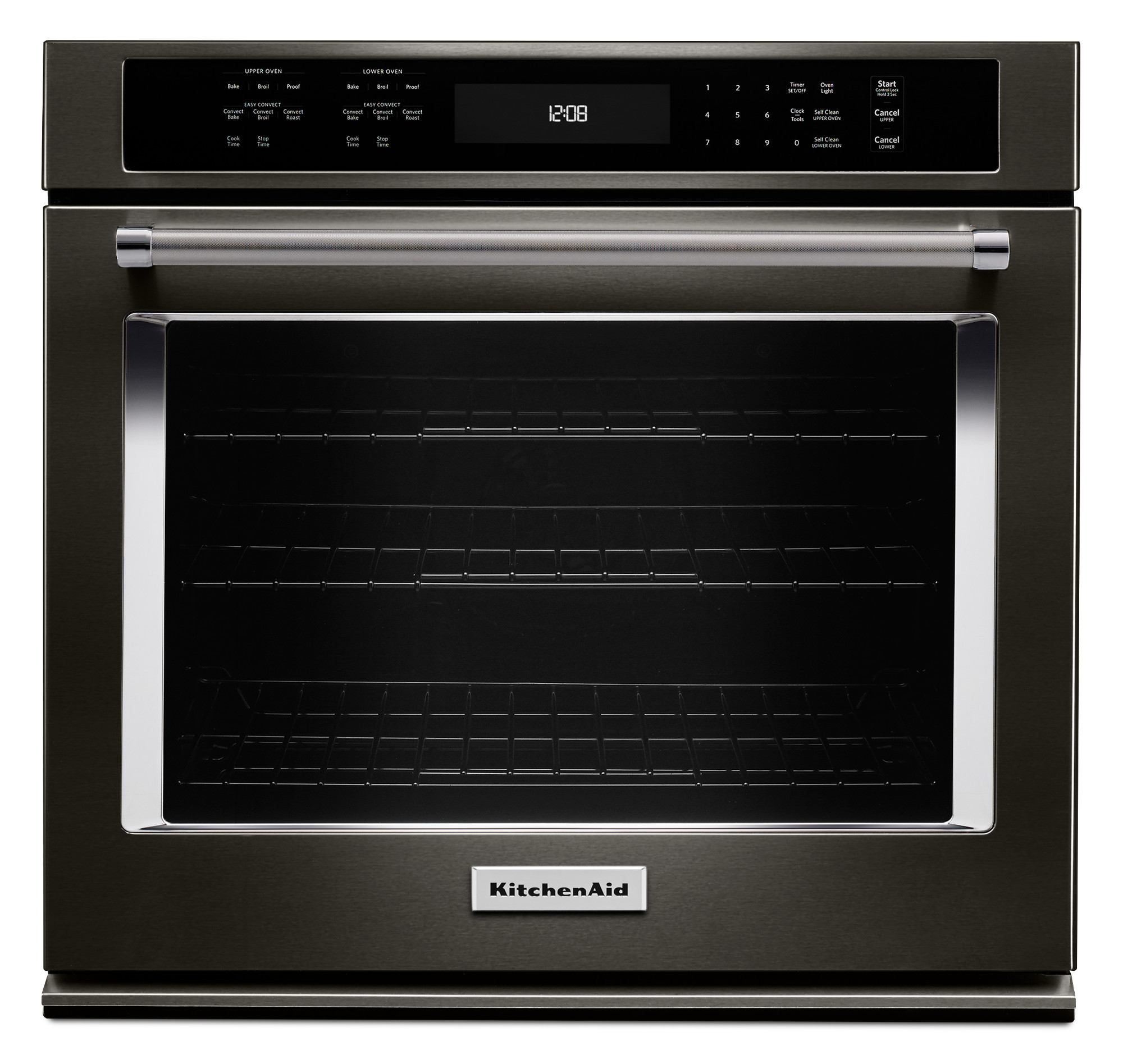 KitchenAid KOSE500EBS 30 Single Wall Oven w/ Even-Heat™ True Convection - Black Stainless