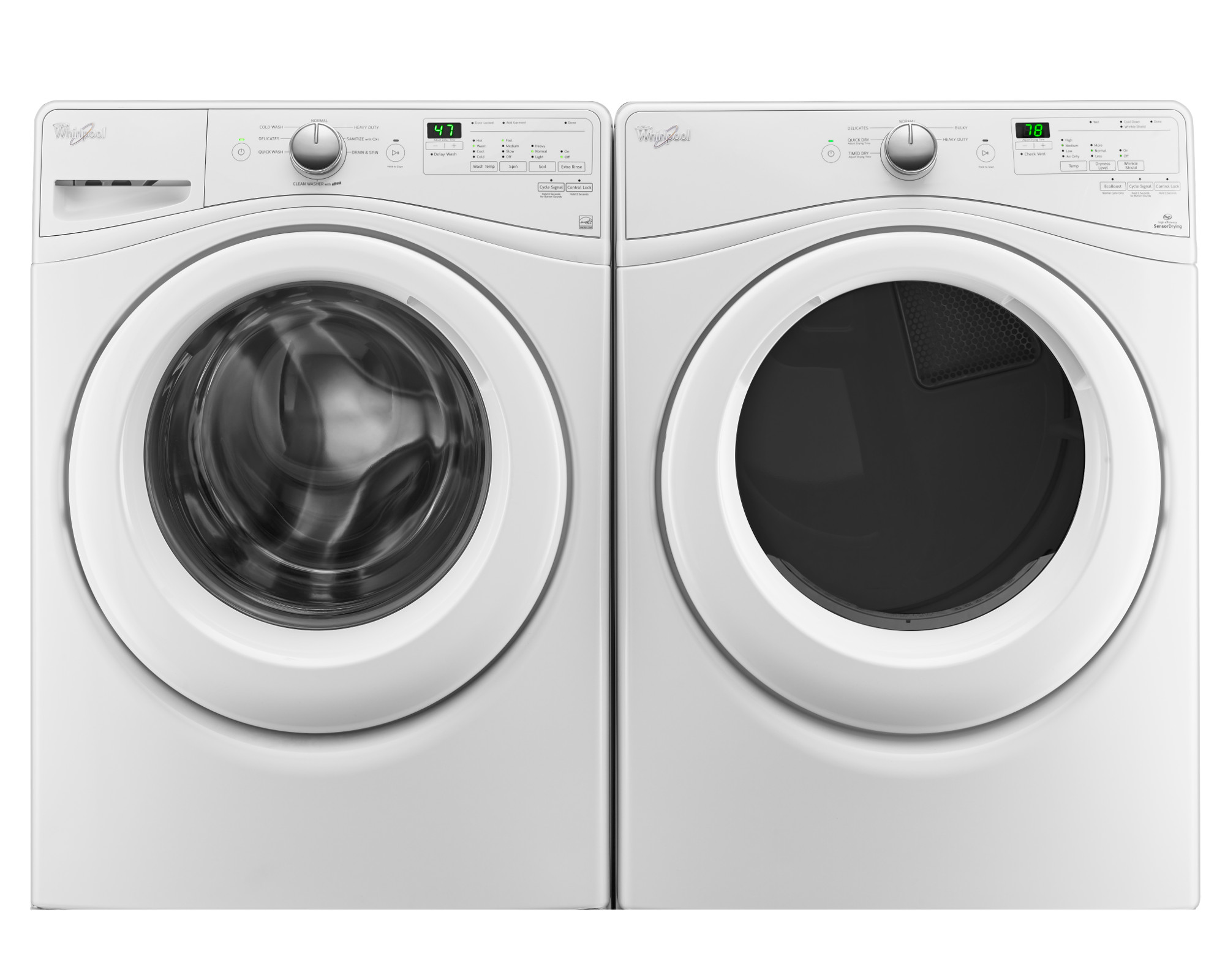 4.5 cu. ft. Front-Load Washer & 7.4 cu. ft. Dryer - White