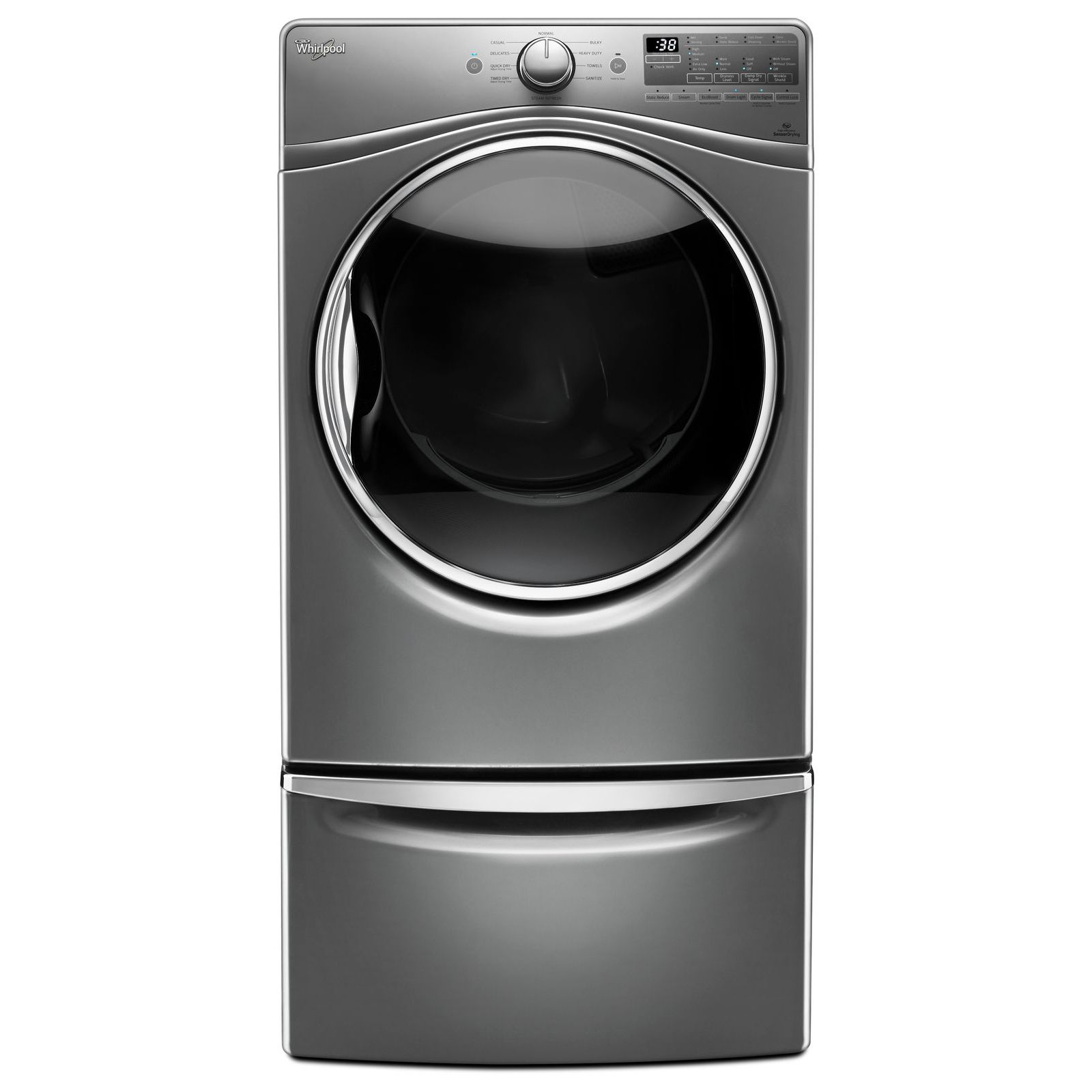Whirlpool WED92HEFC 7.4 cu. ft. Electric Dryer w/ Advanced Moisture Sensing - Chrome Shadow