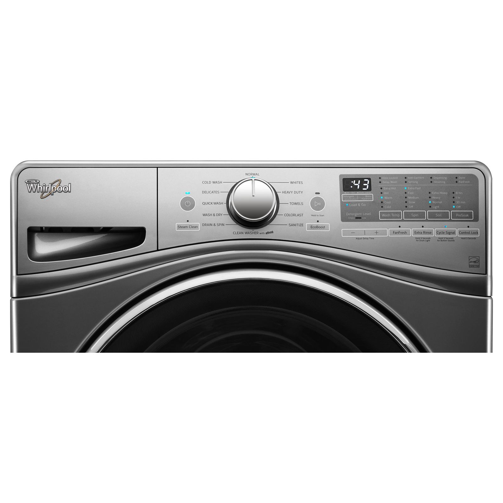 Whirlpool WFW92HEFC 4.5 cu. ft. Front Load Washer w/ Load & Go™ Bulk Dispenser - Chrome Shadow
