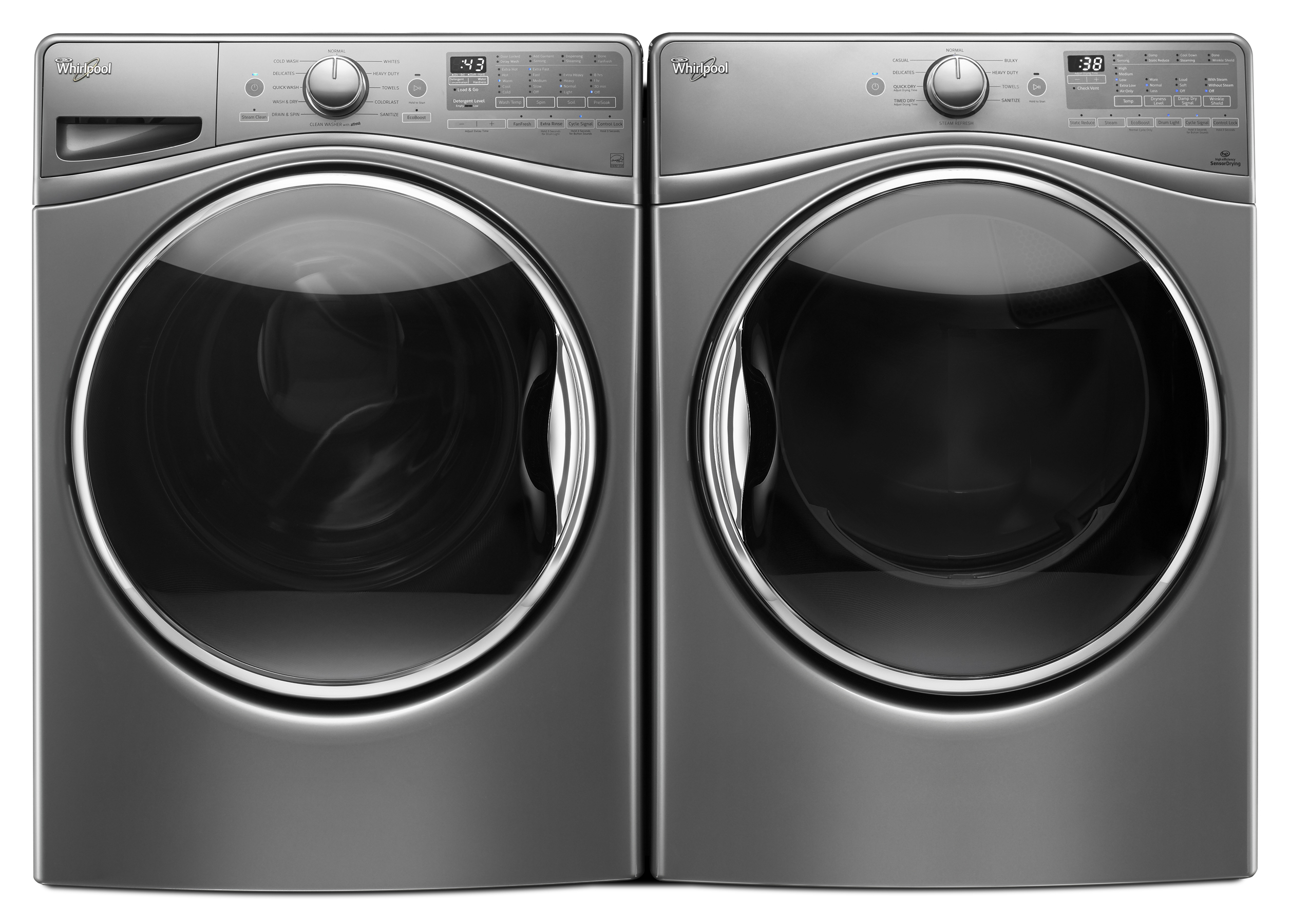 4.5 cu. ft. Front Load Washer & 7.4 cu. ft. Dryer - Chrome Shadow