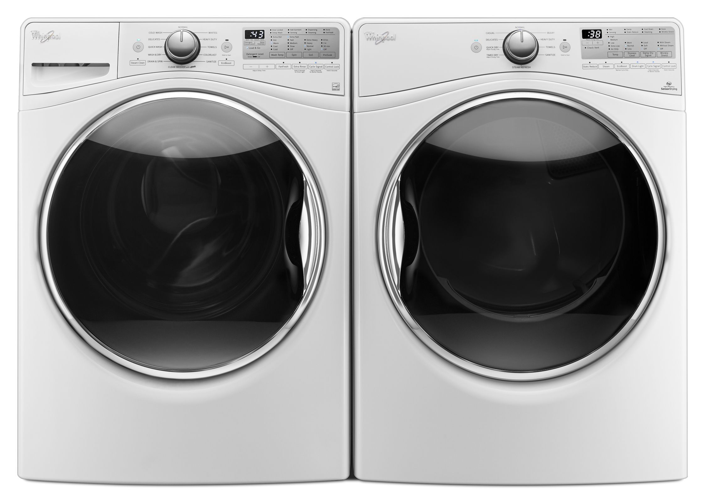 Whirlpool WFW90HEFW 4.5 cu. ft. Front Loading Washer w/ 12-hour FanFresh® Option - White