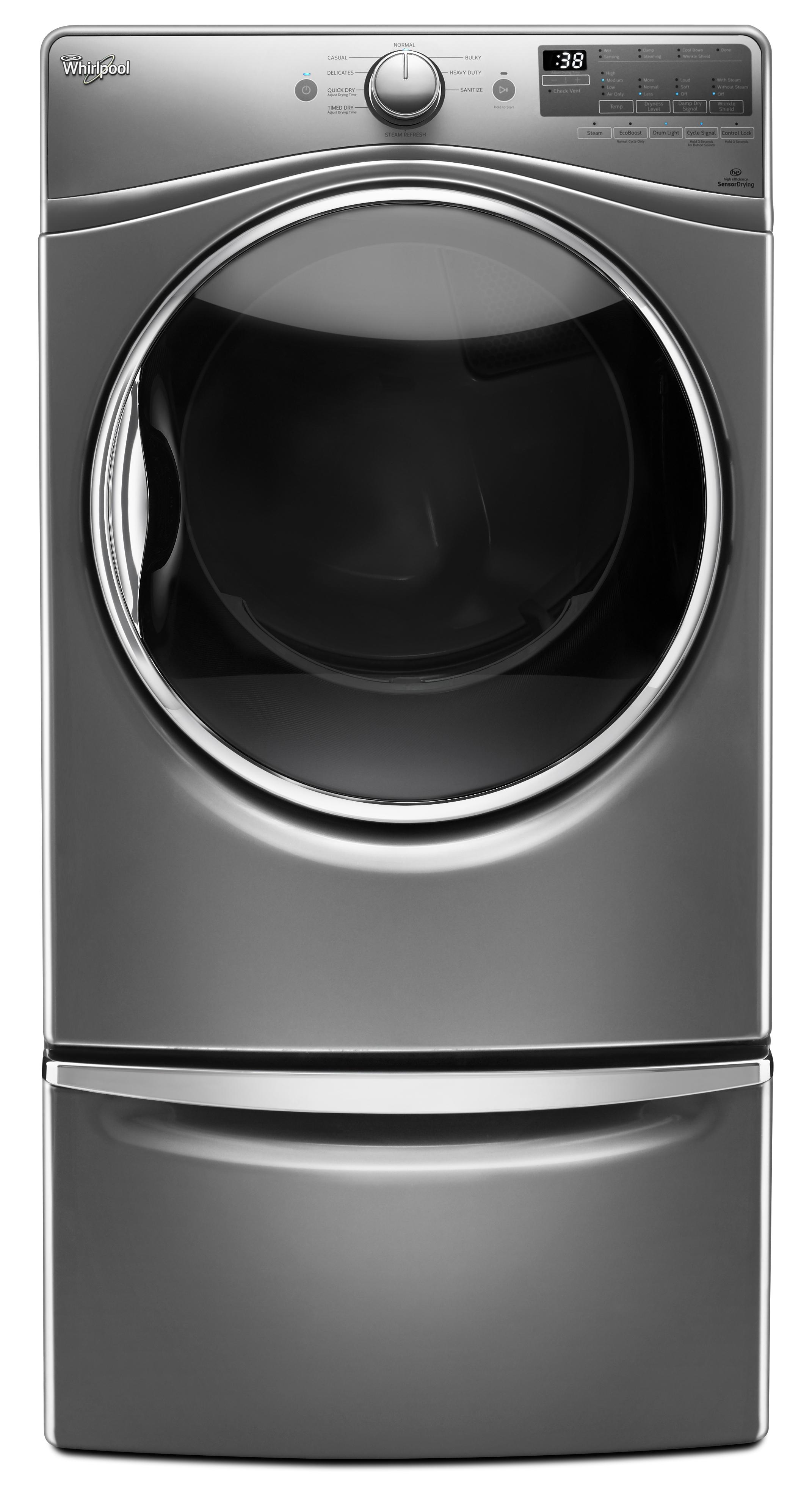 Whirlpool WGD90HEFC 7.4 cu. ft. Gas Dryer - Chrome Shadow