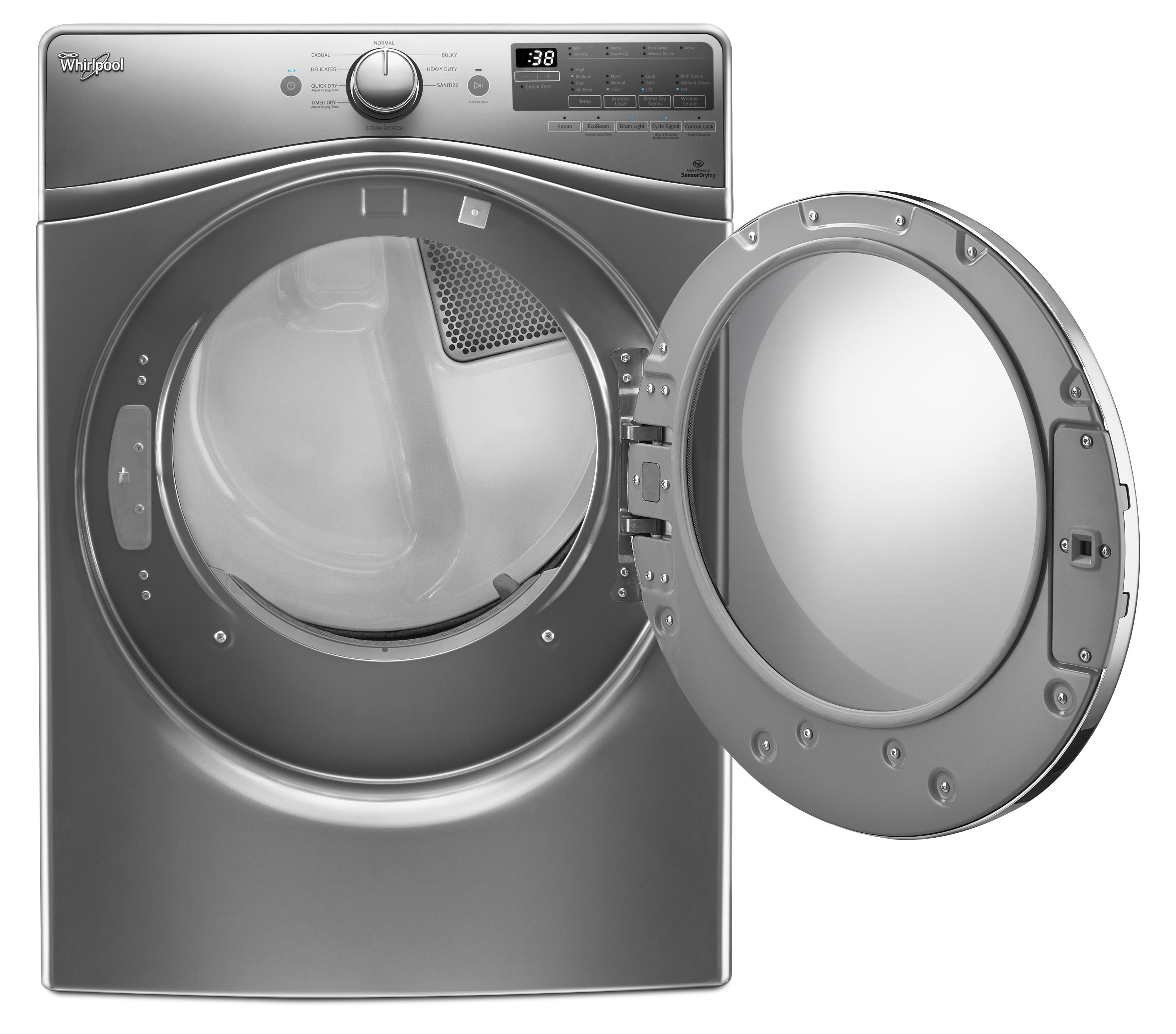 Whirlpool WED90HEFC 7.4 cu. ft. Electric Dryer - Chrome Shadow