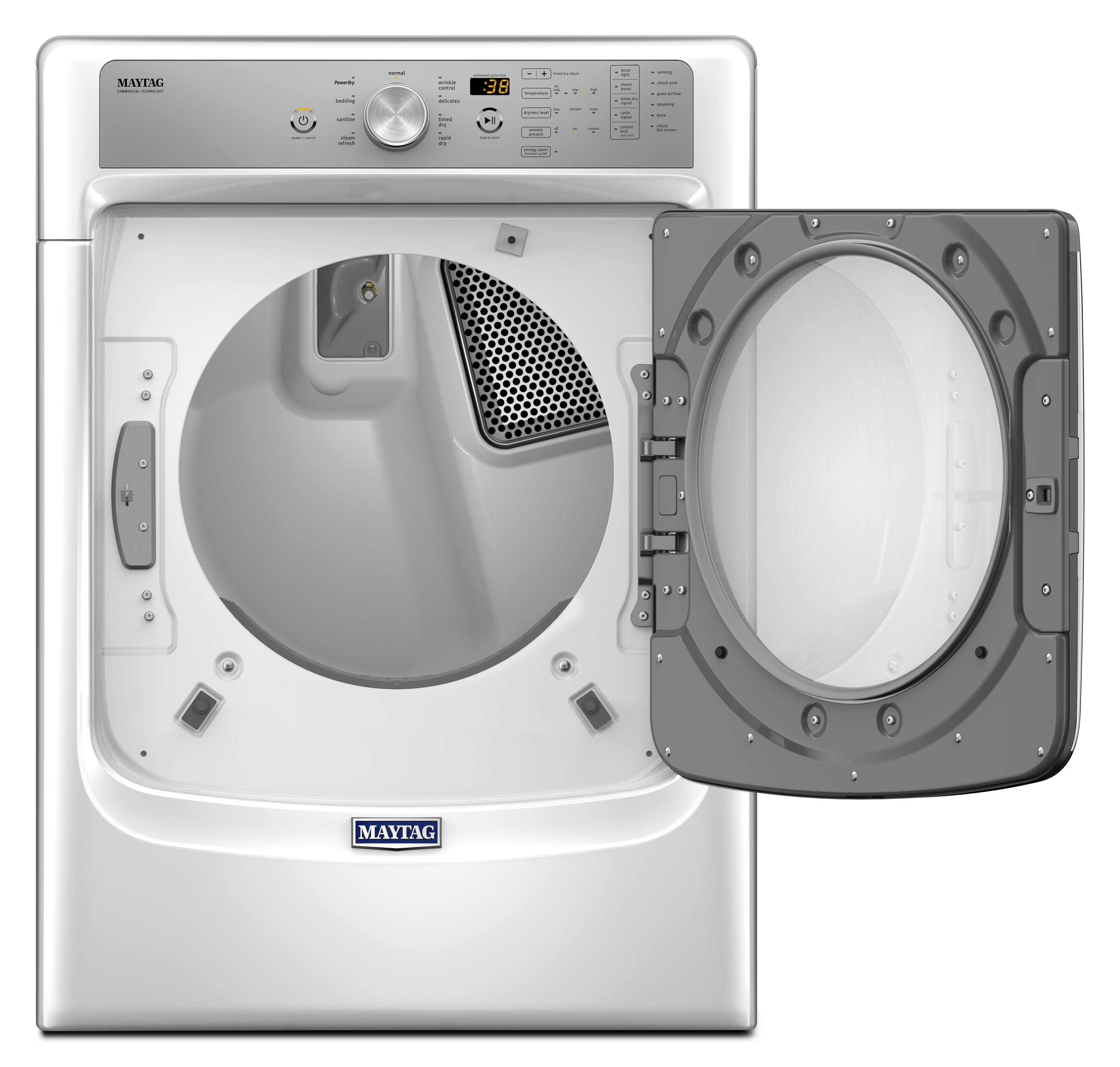 Maytag MED5500FW 7.4 cu. ft. Electric Dryer w/ Sanitize Cycle and PowerDry System - White